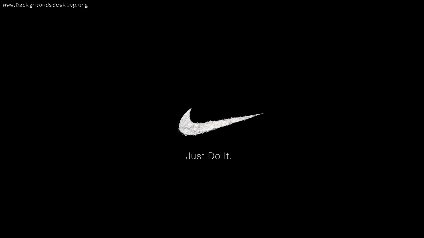 cool nike logo just do it wallpaper 1366x768 9162