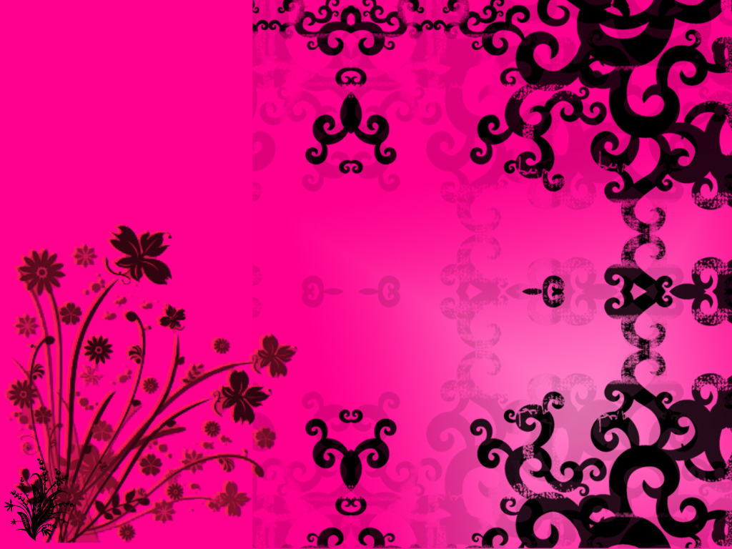 Cool Pink and Black Wallpaper