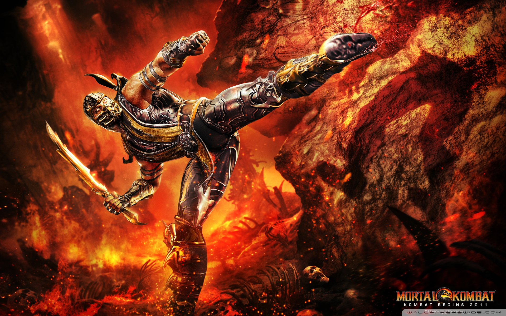 Cool Scorpion Mortal Kombat Wallpaper