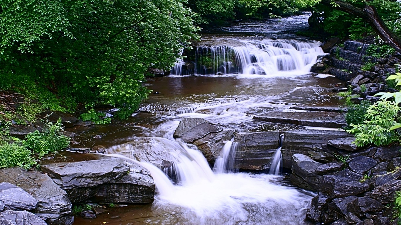 The Endless Flow Beauty Cool Rocks Stream Trees Water - 1366x768 iWallHD - Wallpaper HD