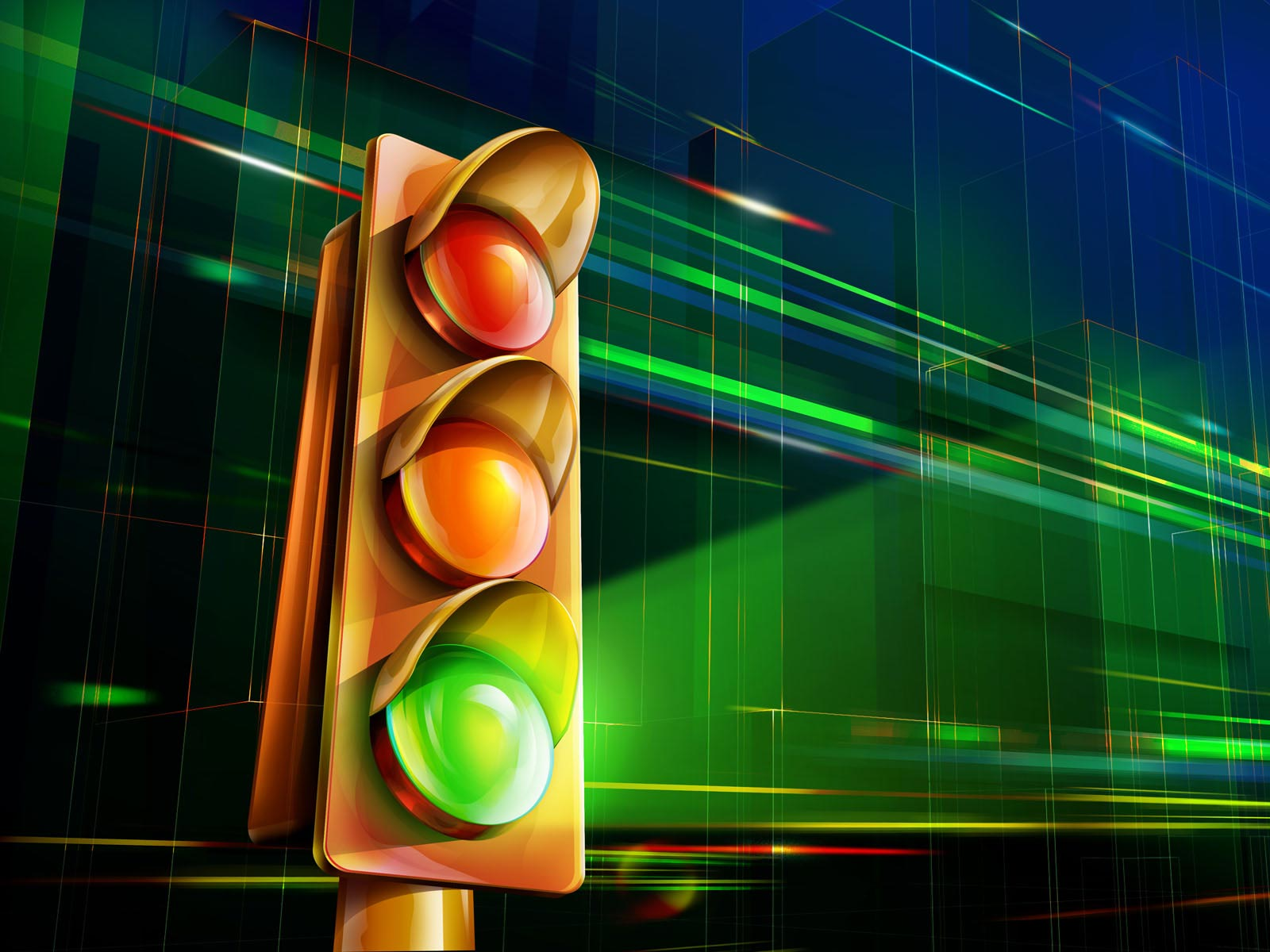Cool Traffic Light Wallpaper