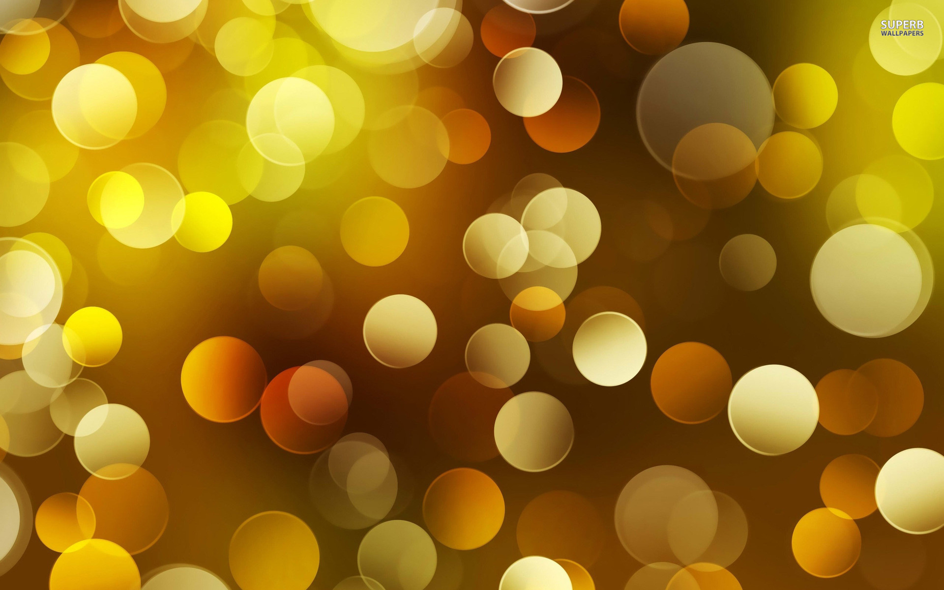 Cool Yellow Bokeh Wallpaper
