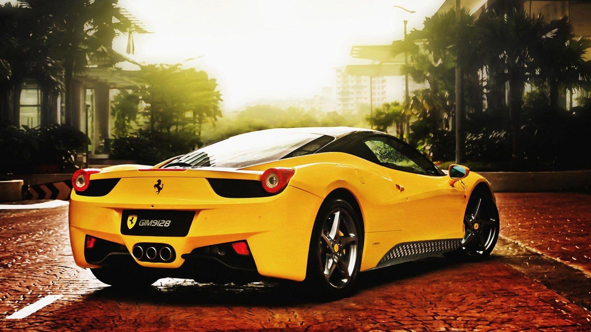 Cool Yellow Ferrari Wallpaper
