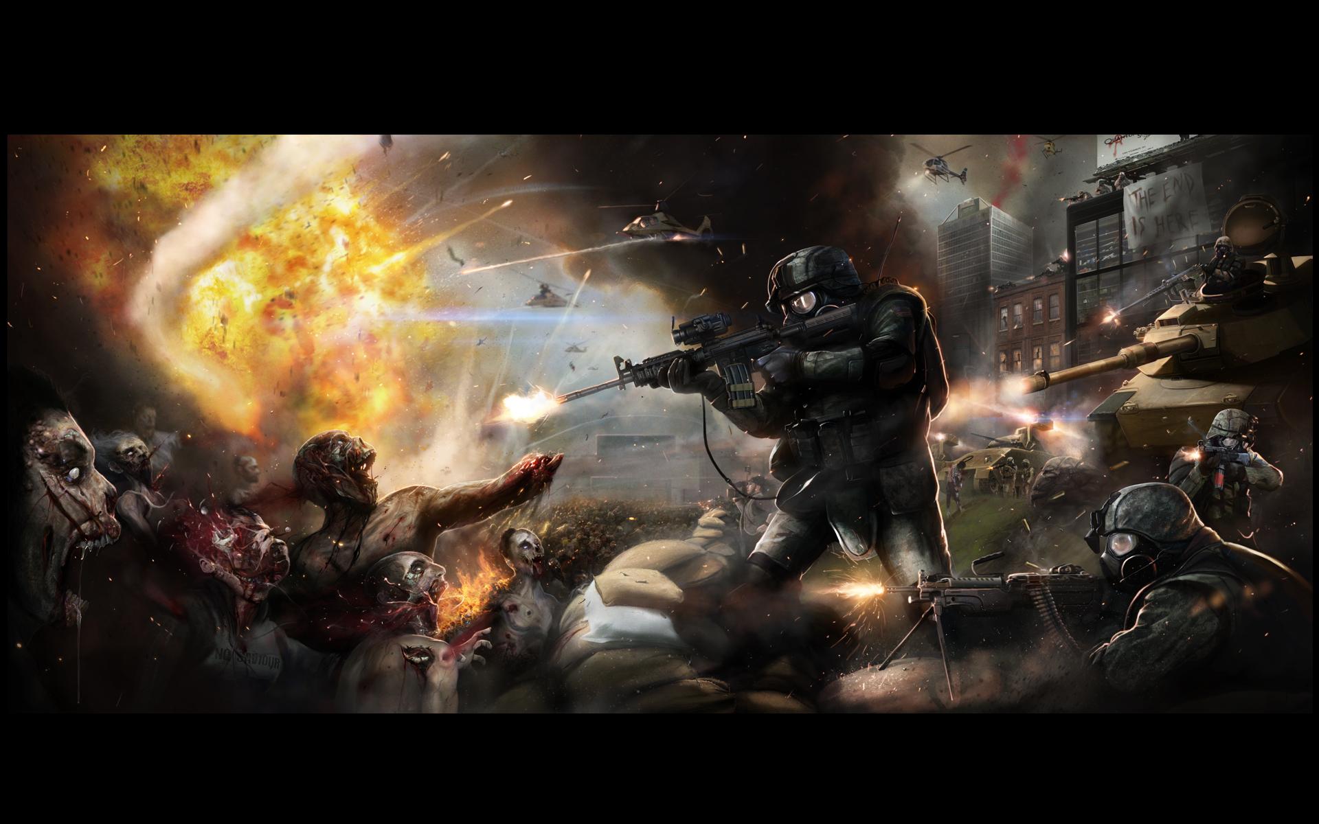 cool zombie wallpaper 1