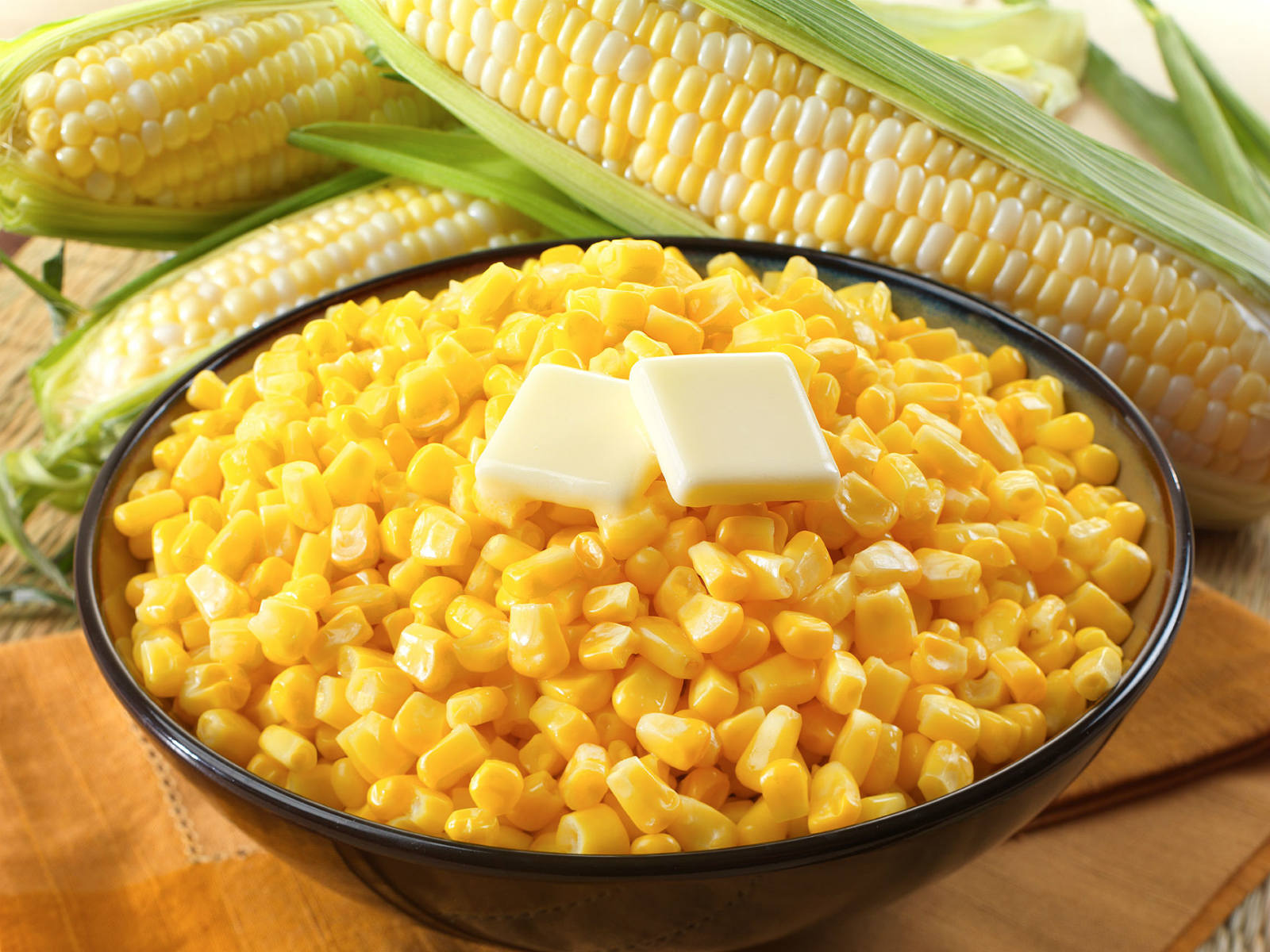 Corn creates more starch as it is aging and because of that it is one of the few vegetables that are good sources of starch carbohydrates.