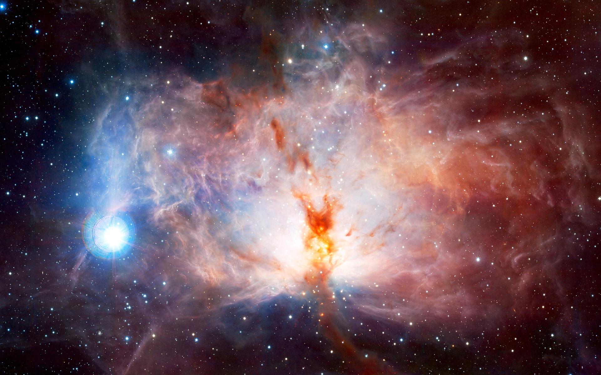 Cosmic nebula flame