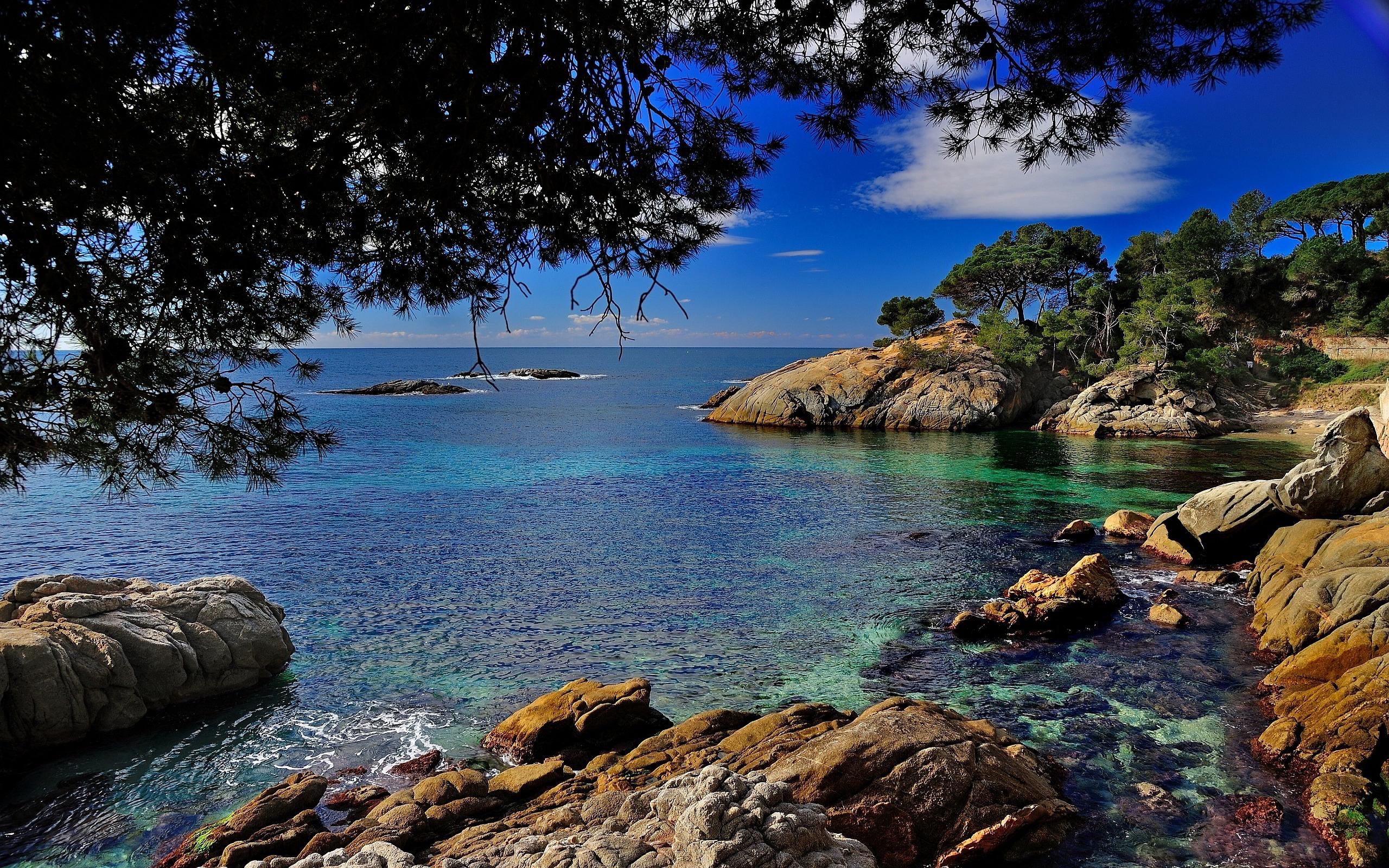 Costa brava coast spain