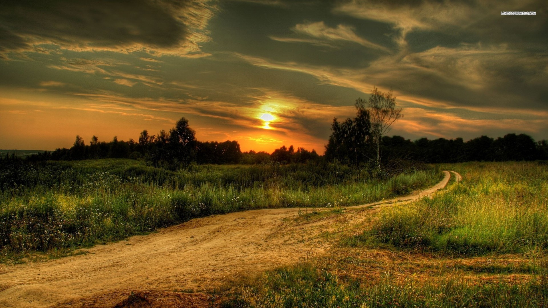 ... Country Road at Sunset wallpaper 1920x1080 1080p ...