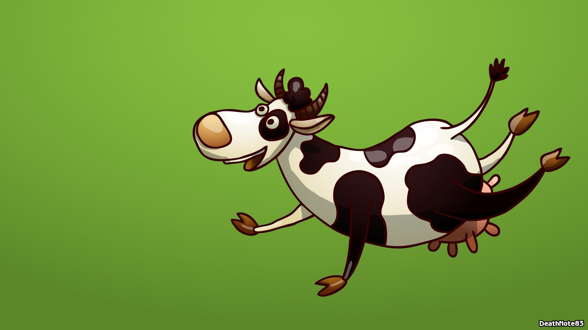 Cow Funny Cartoon HD Wallpaper