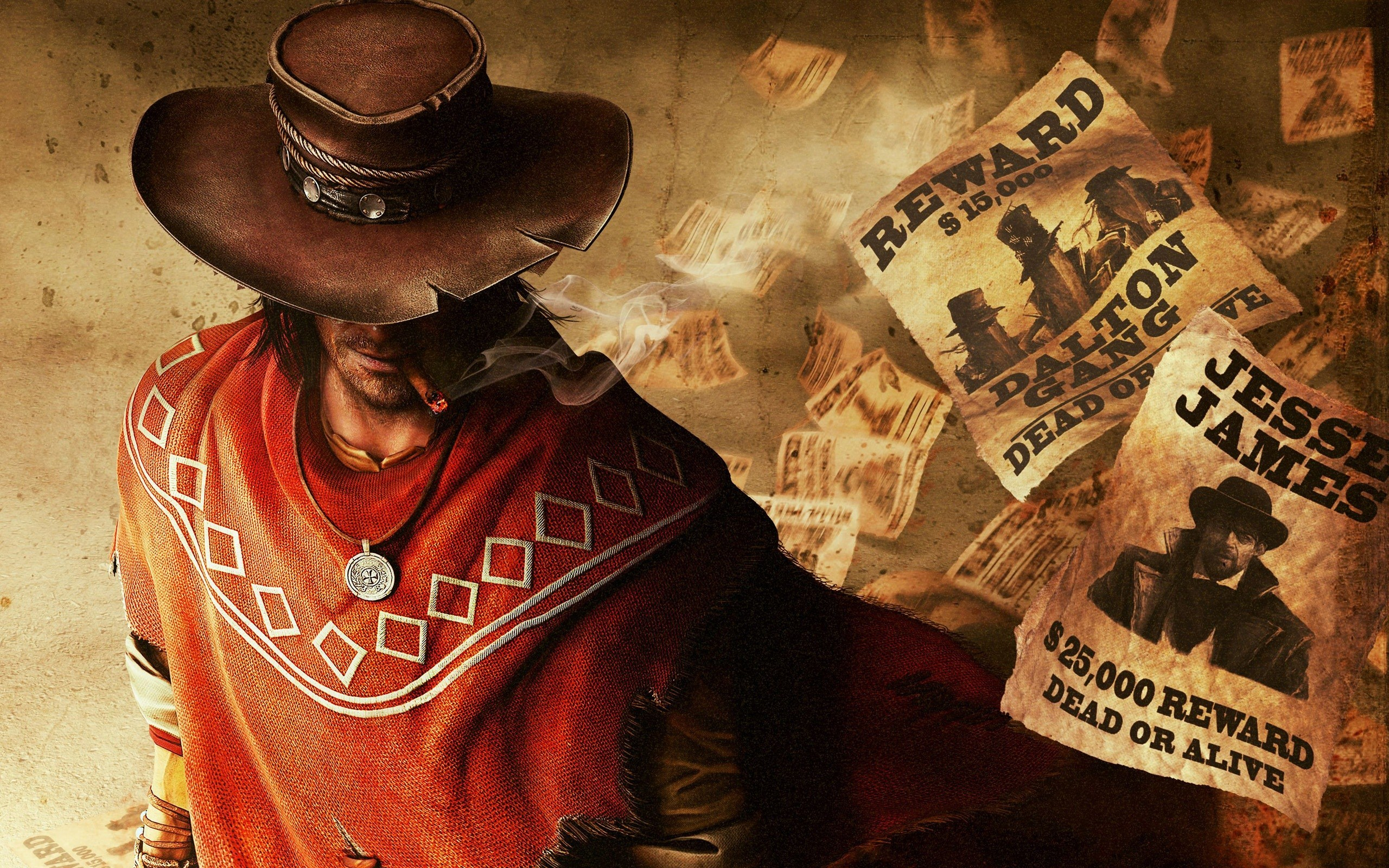 Call of Juarez Gunslinger Cowboy Hat Reward Wanted Game HD Wallpaper