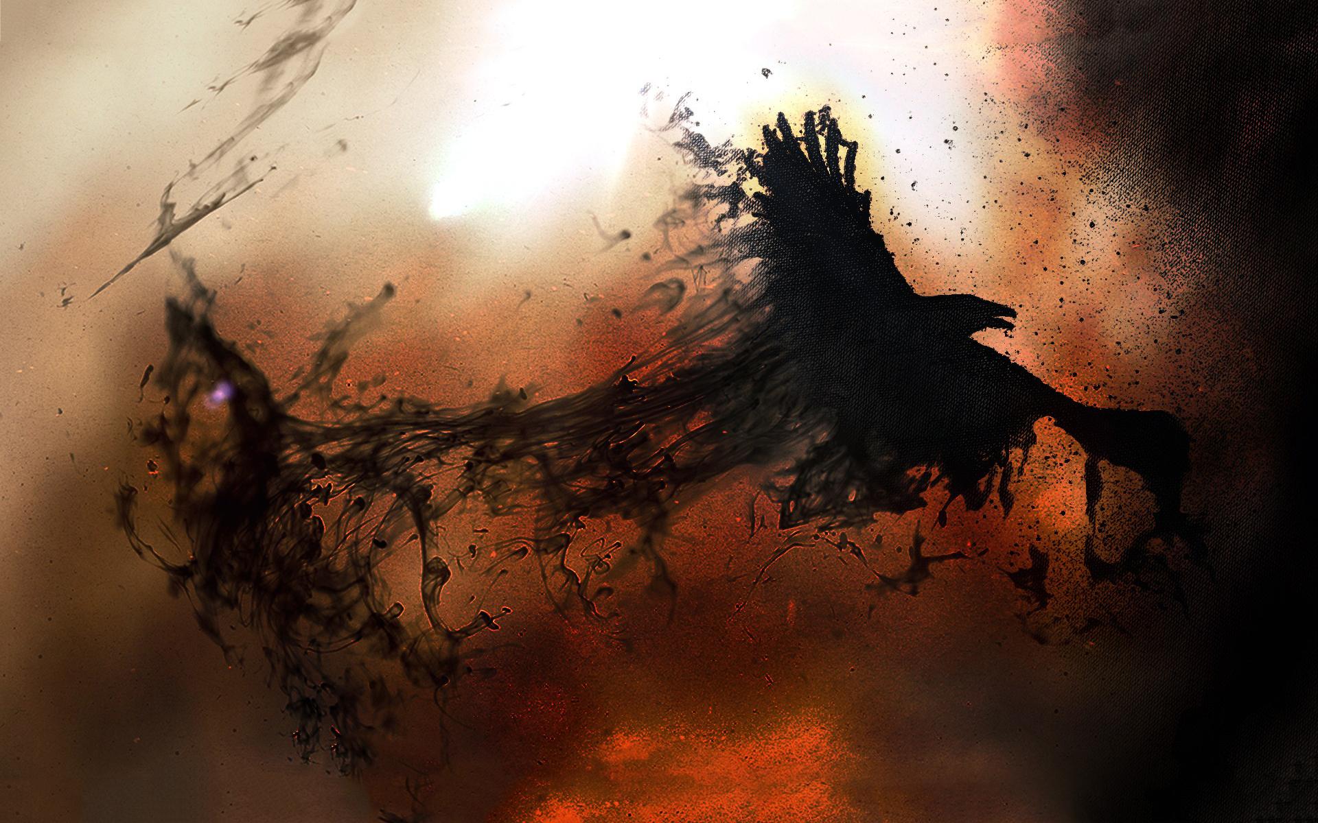 Crow dark messenger