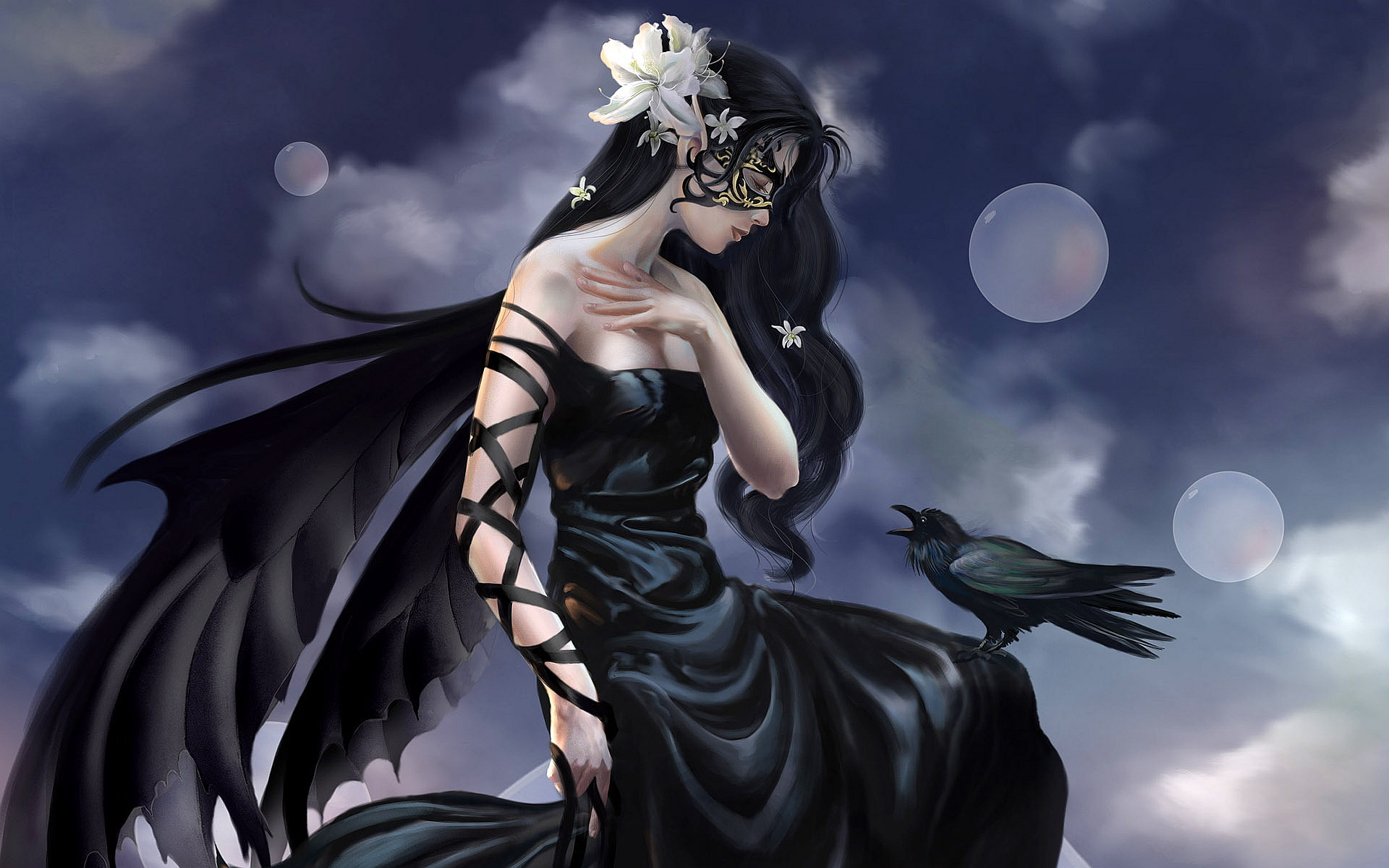 Crow Girl Fantasy Art
