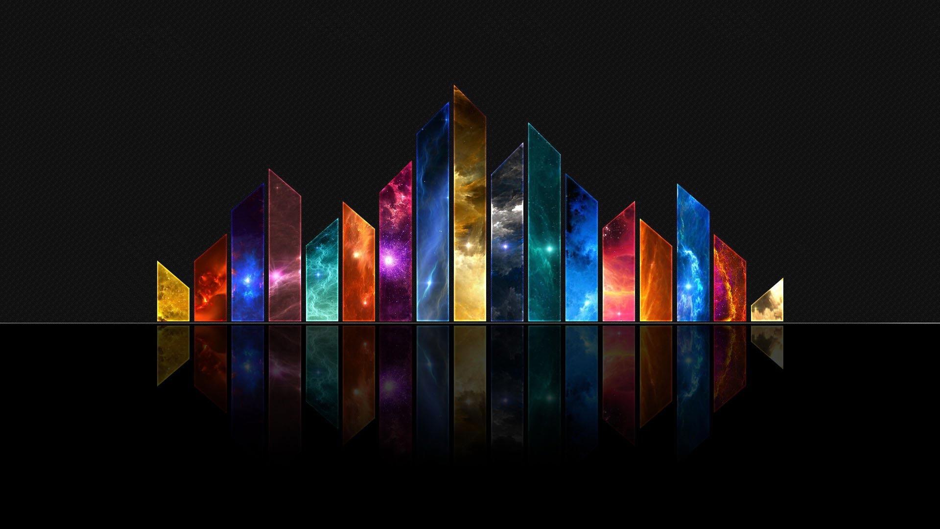 Multicolored crystals 1920x1080