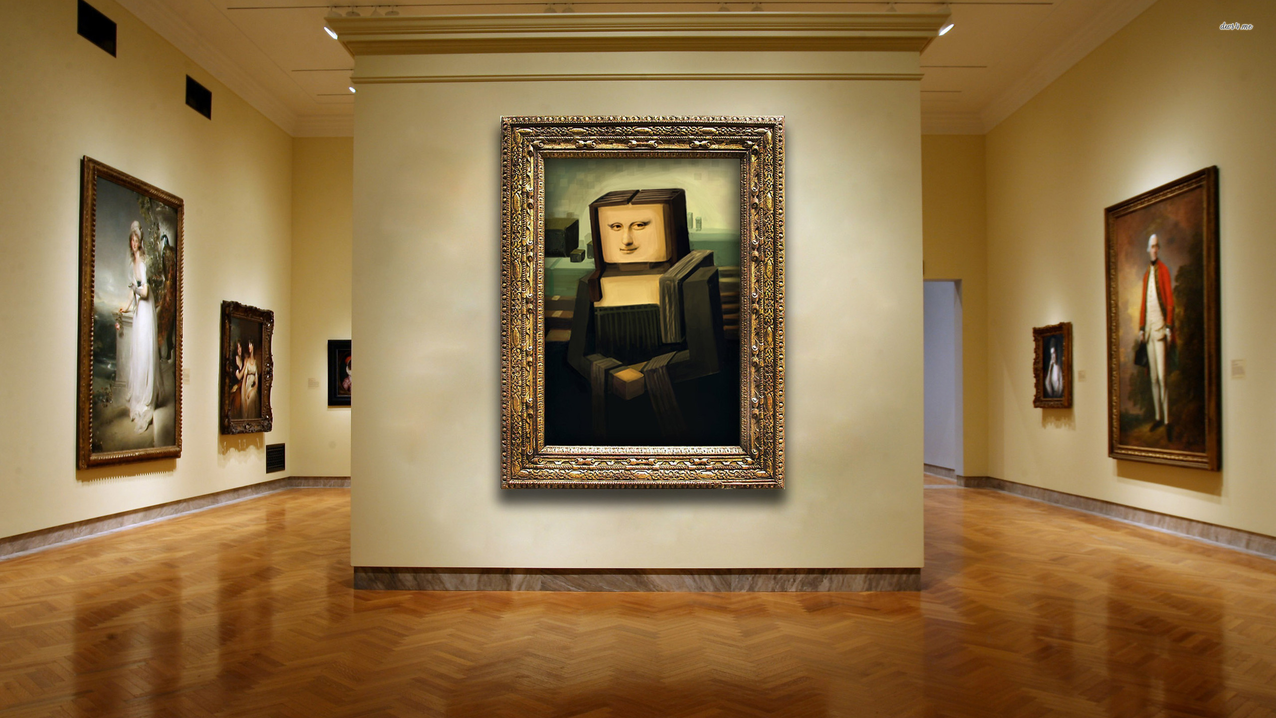 ... Mona Lisa in cubism wallpaper 2560x1440 ...