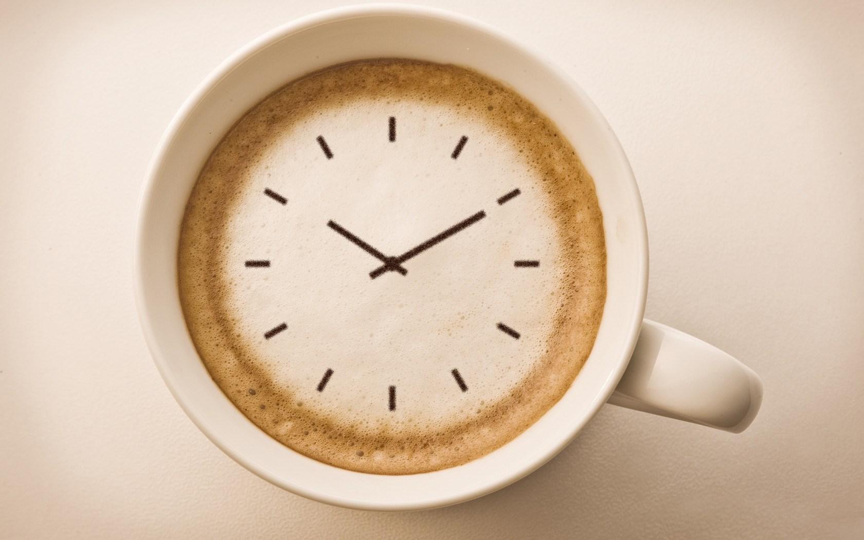 Cup Cappuccino Clock