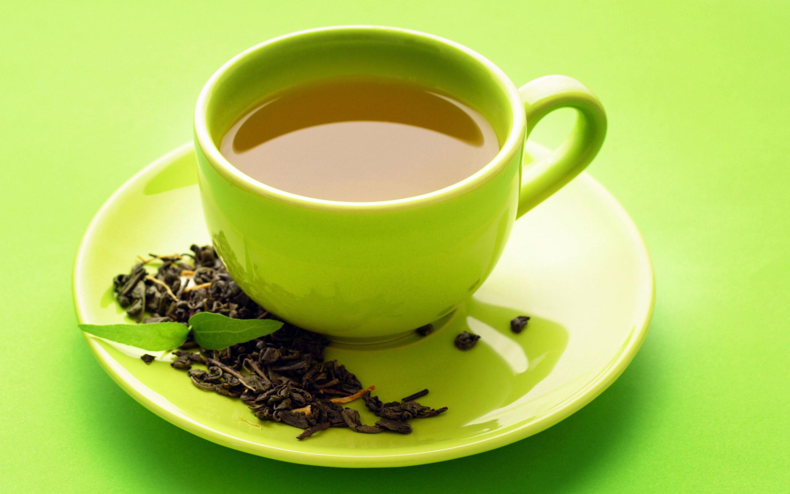 Cup green tea