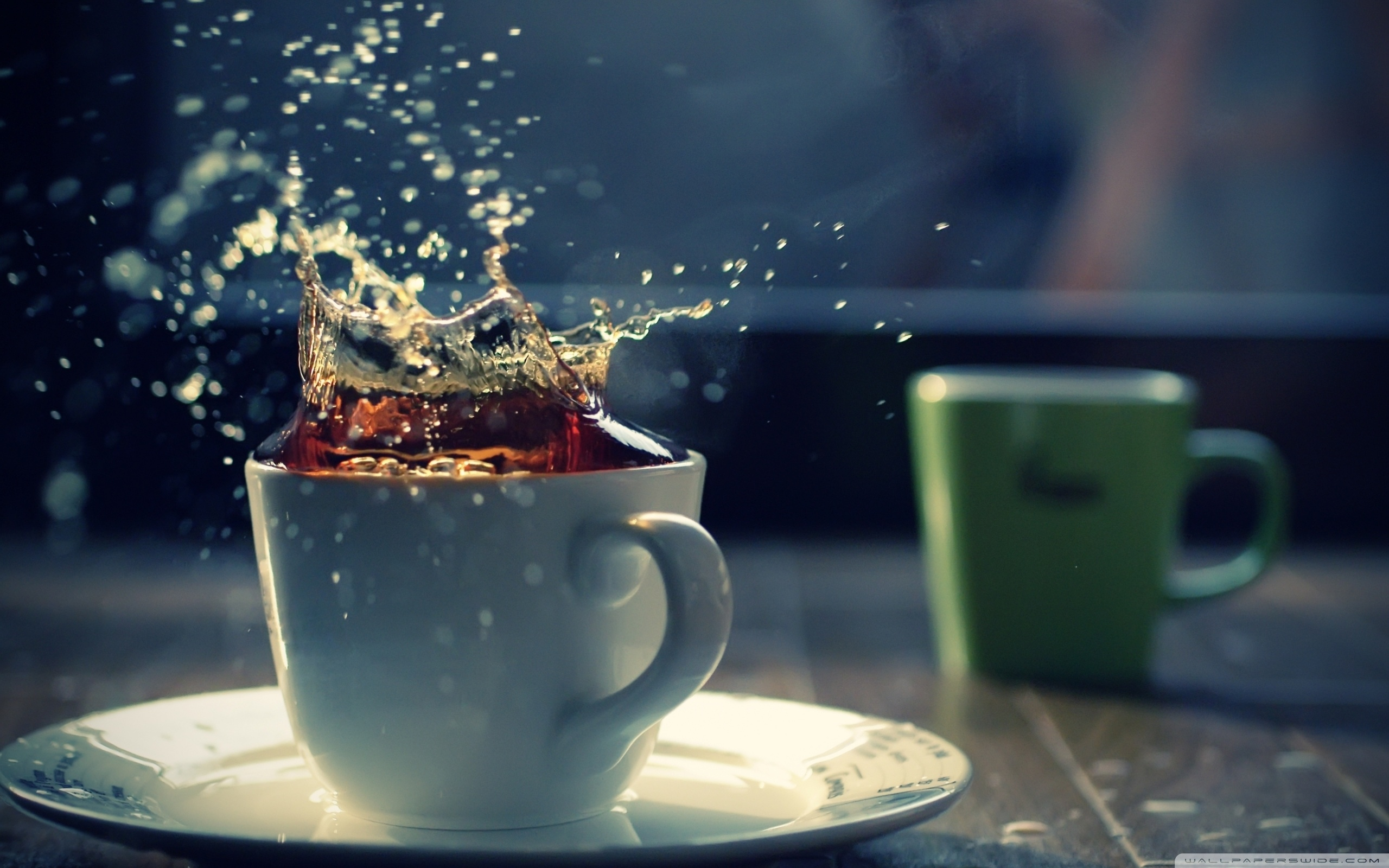 Splash In A Tea Cup Wallpaper Full HD ...
