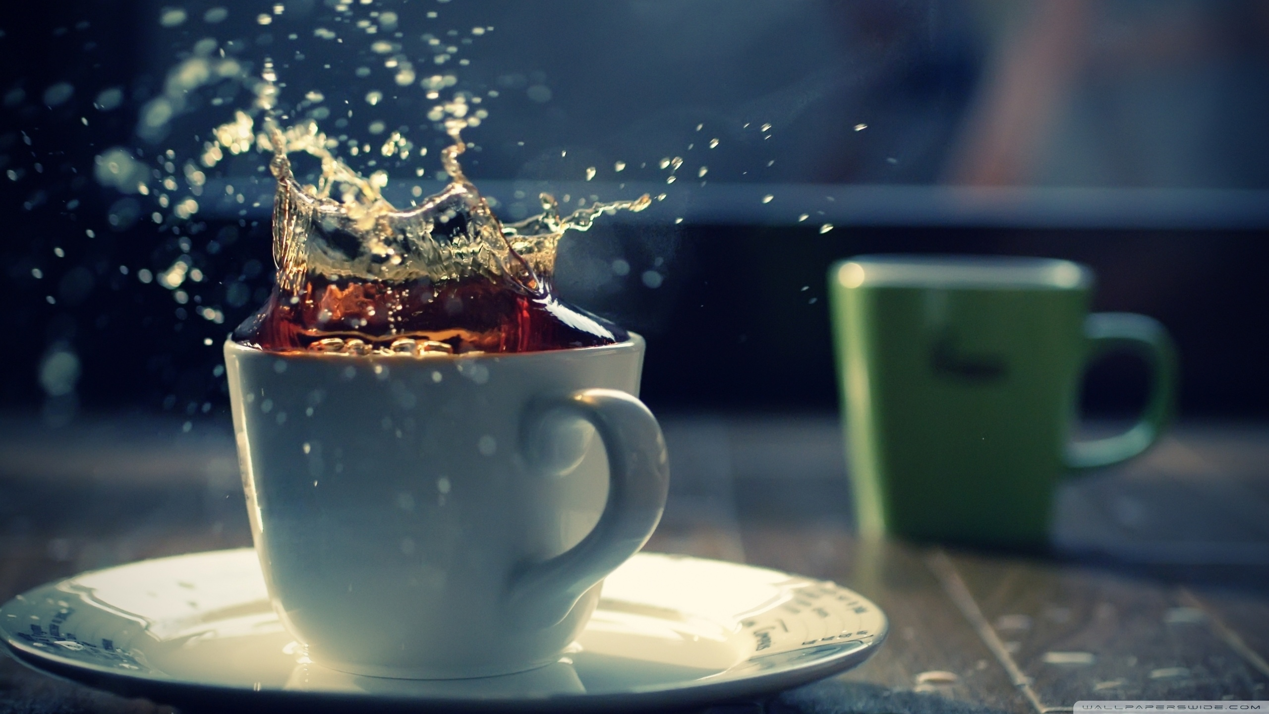 Cup Tea Splash Photo