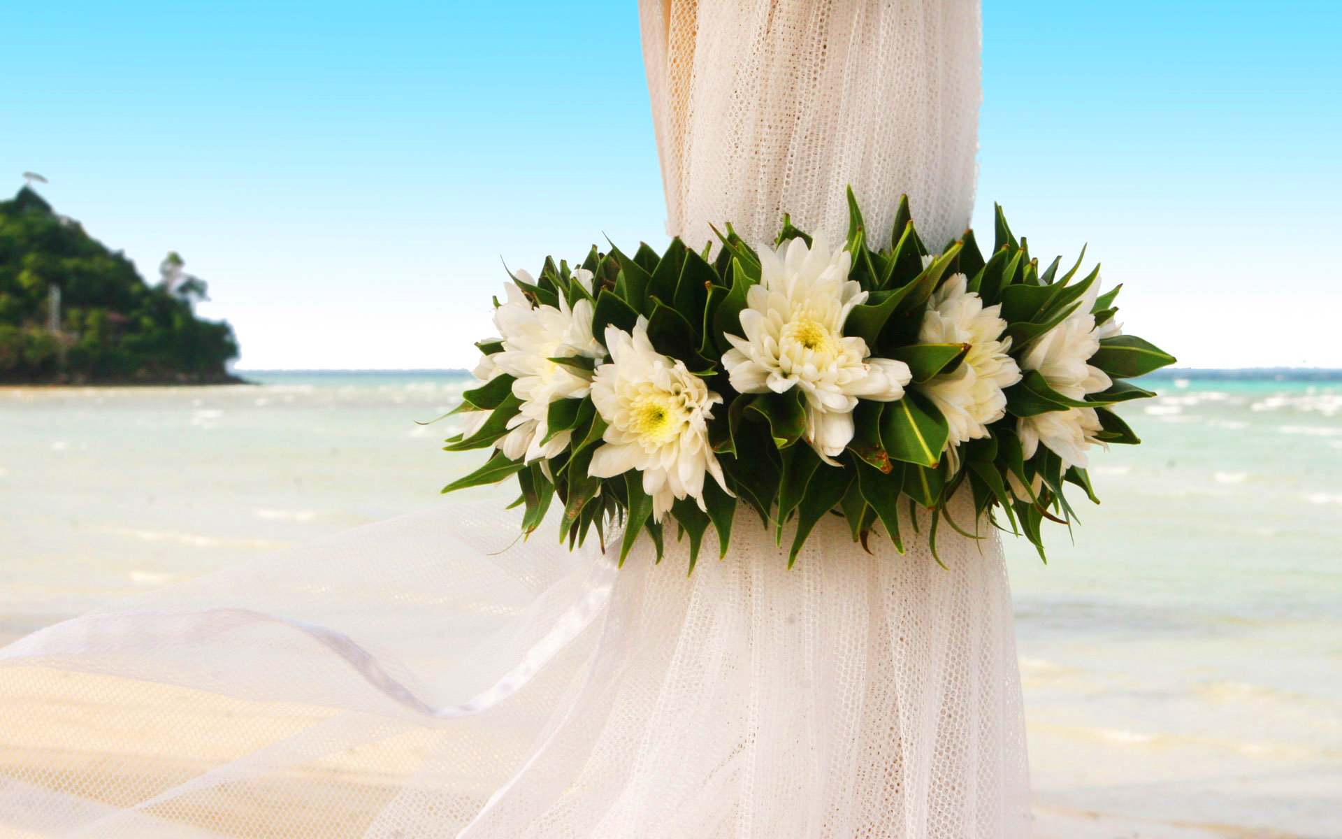 Curtain beach wedding