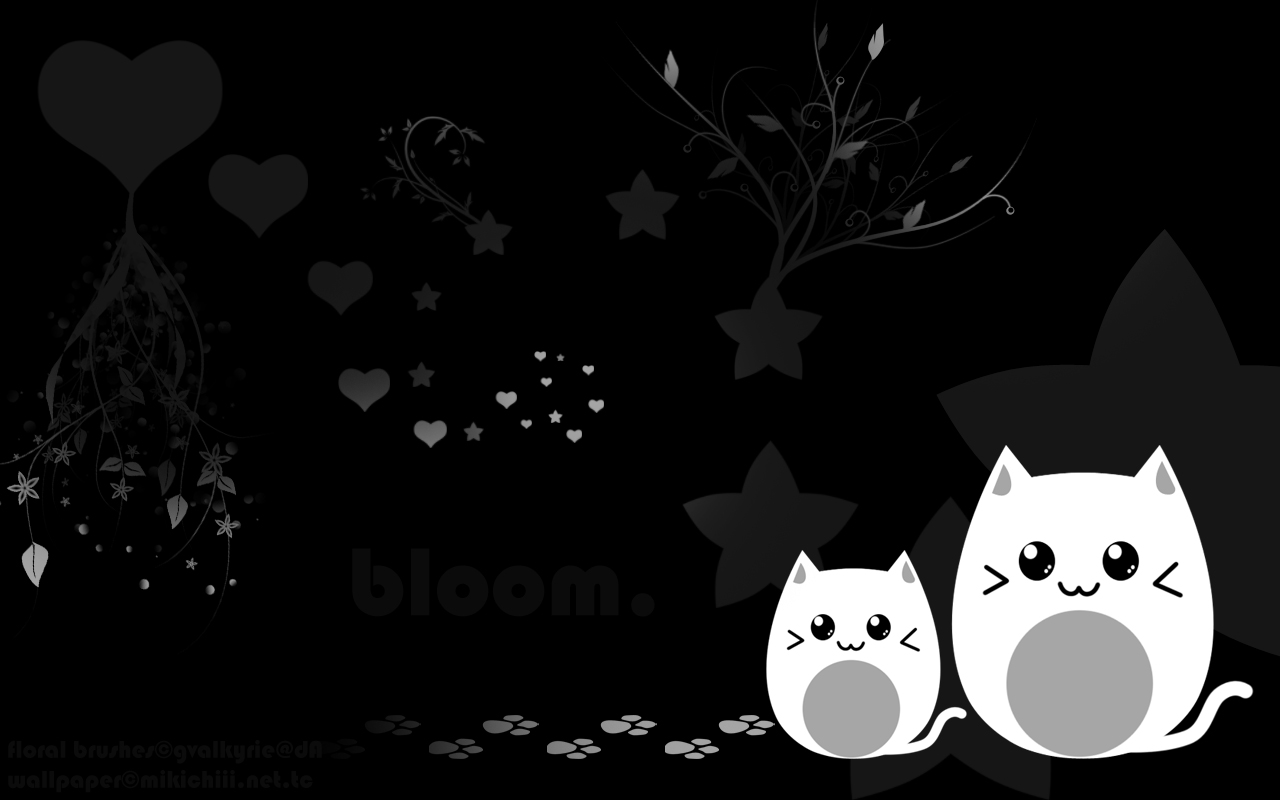 Cute Black and White Wallpaper