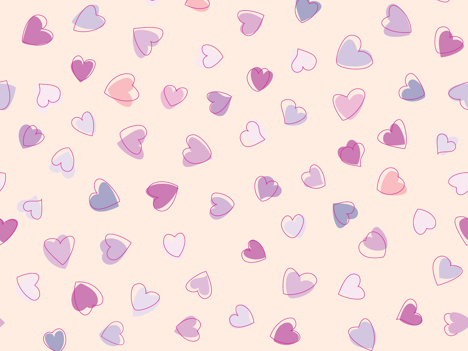 Love cute Heart Wallpaper : cute Heart Pattern wallpaper 1600x1200 #27954