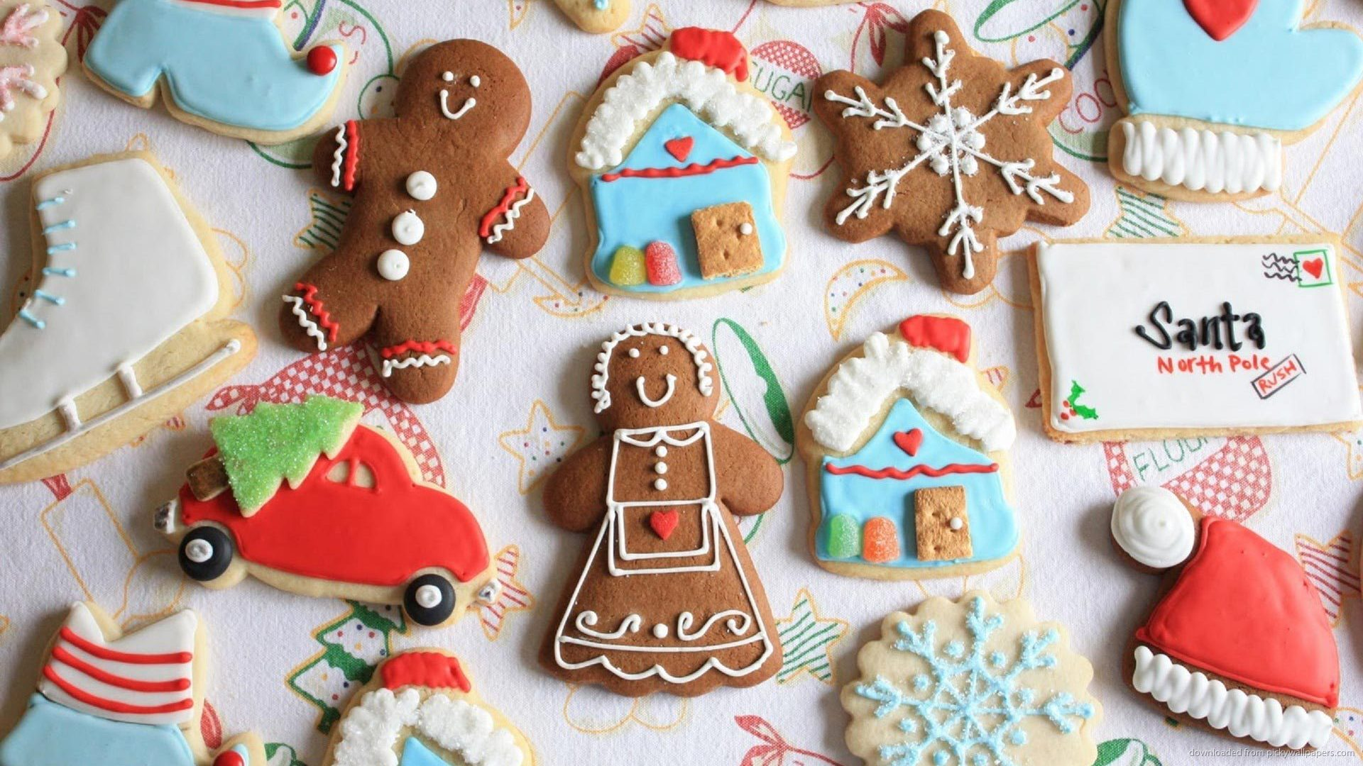 Cute Holiday Cookies Wallpaper