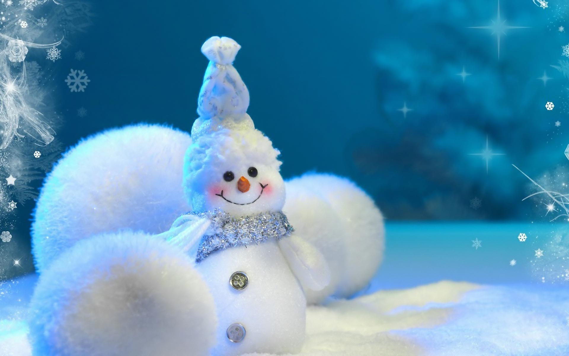 Desktop backgrounds · Backgrounds · Holiday Cute little snowman New Year picture