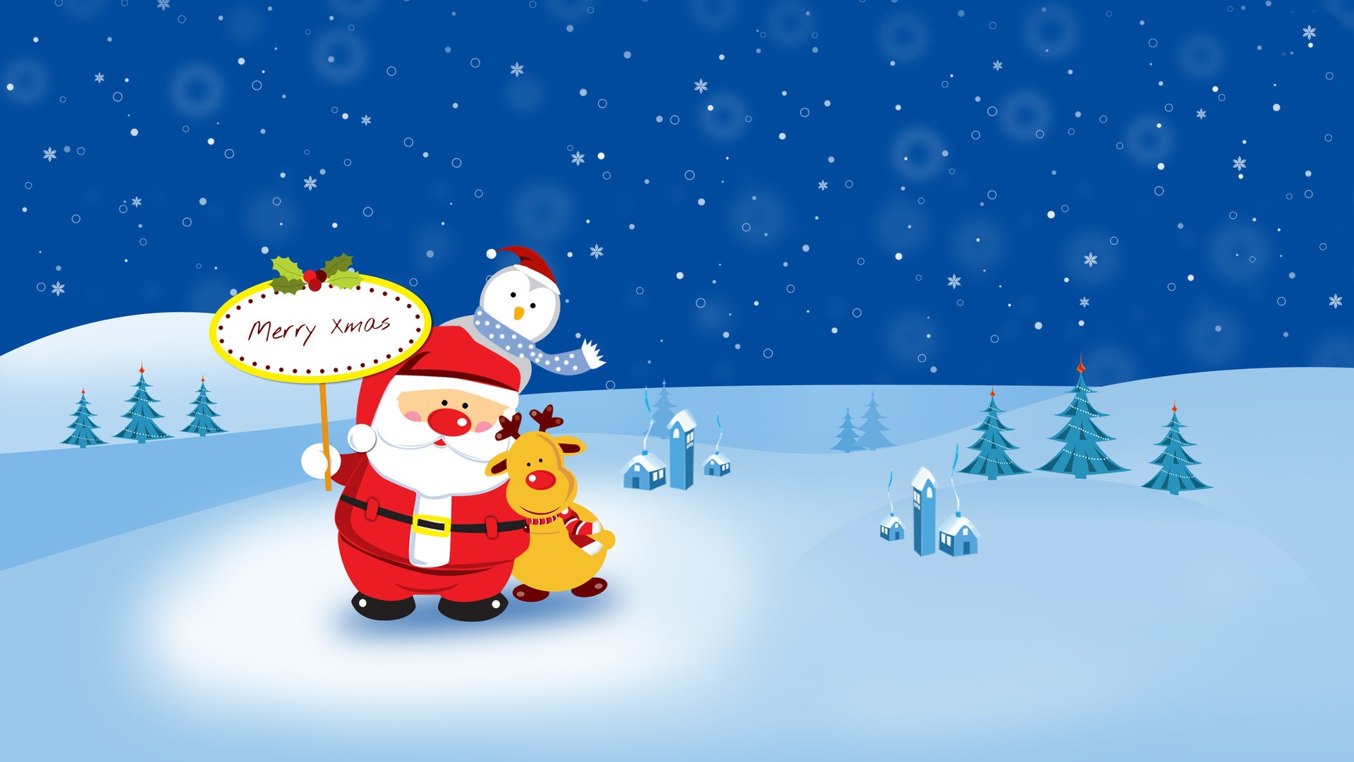 Hdwallpaperhd Wallpaper Happy Christmas Cartoon Pic Phone