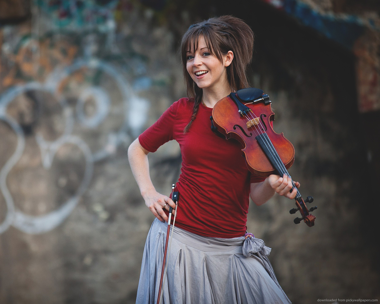 Cute Lindsey Stirling Wallpaper
