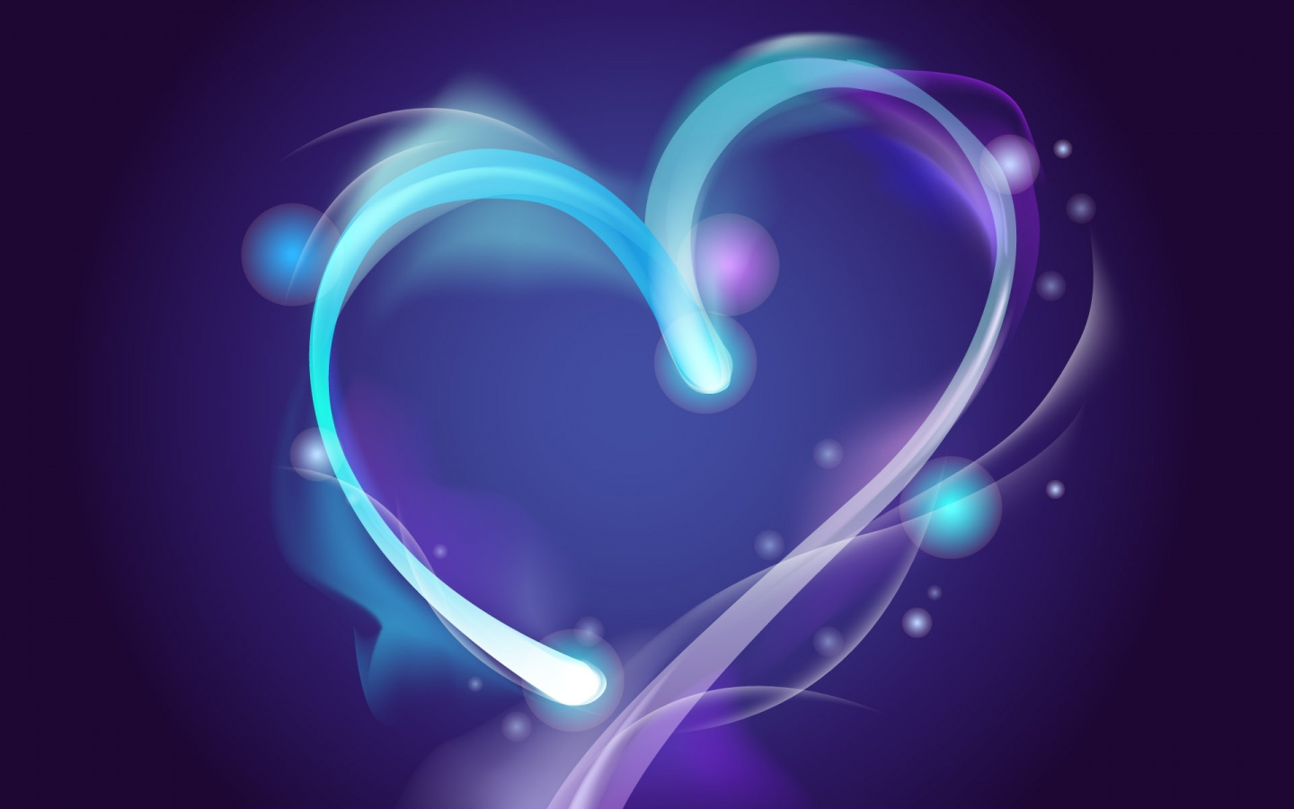 Cute Neon Heart Wallpaper