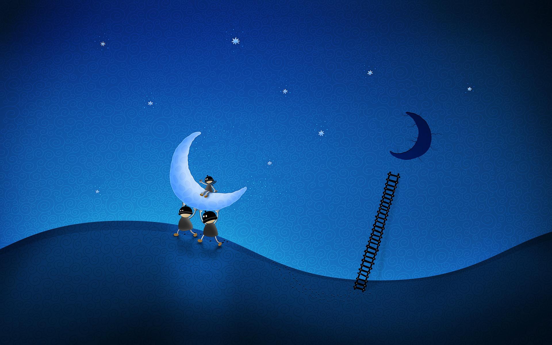 Cute night wallpaper