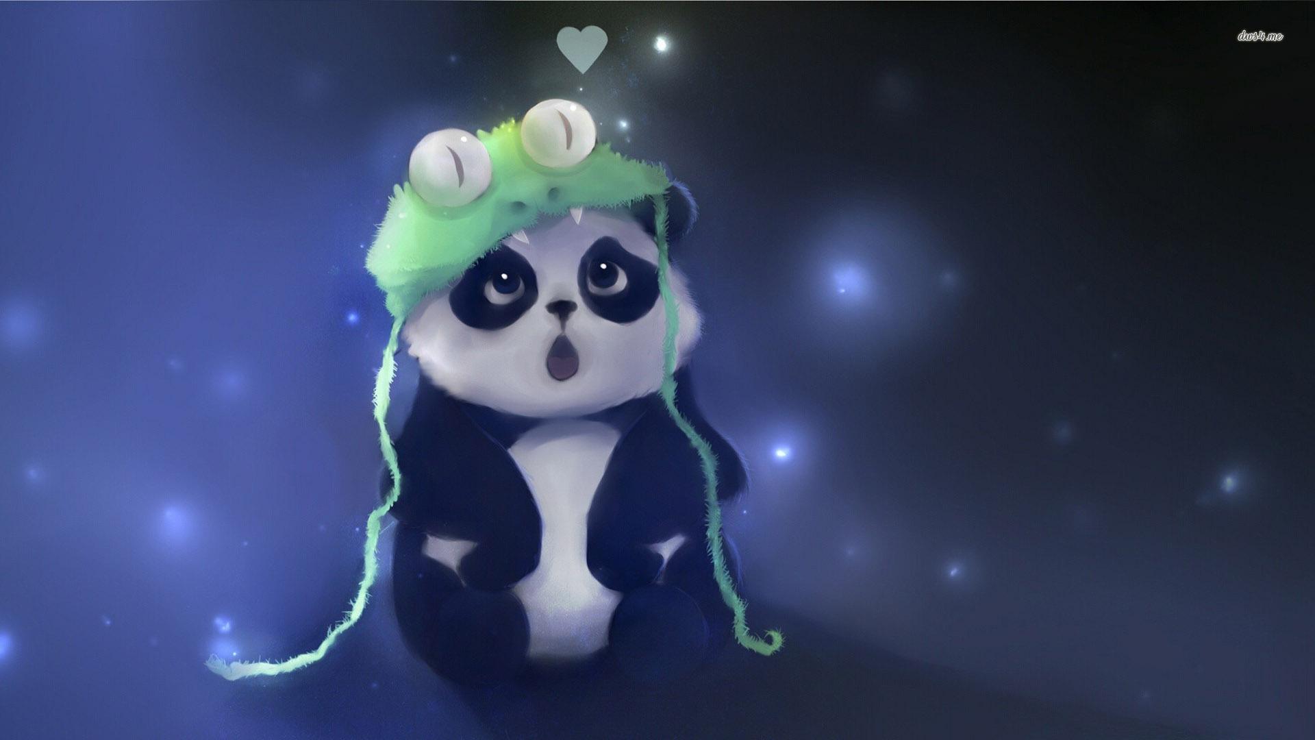 cute panda painting wallpaper - photo #10