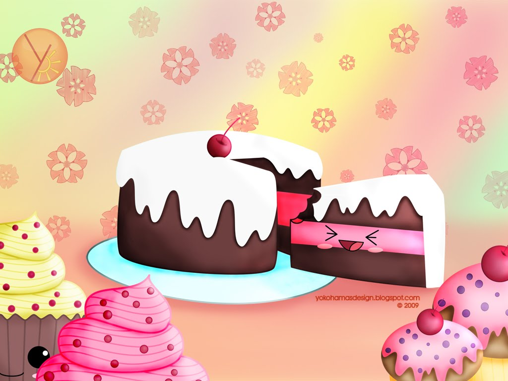 Cute Pastries Wallpaper