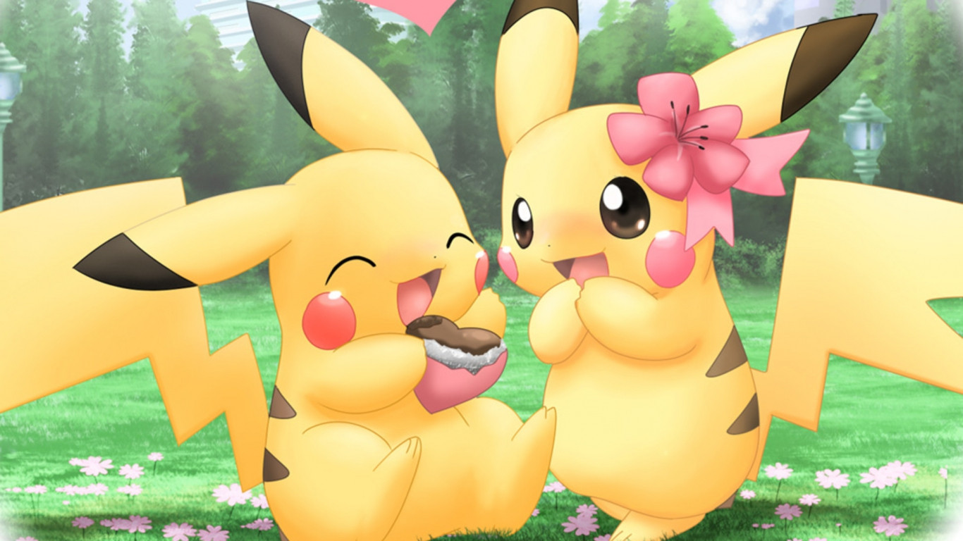 cute pokemon backgrounds wallpaper | 1366x768 | #14746