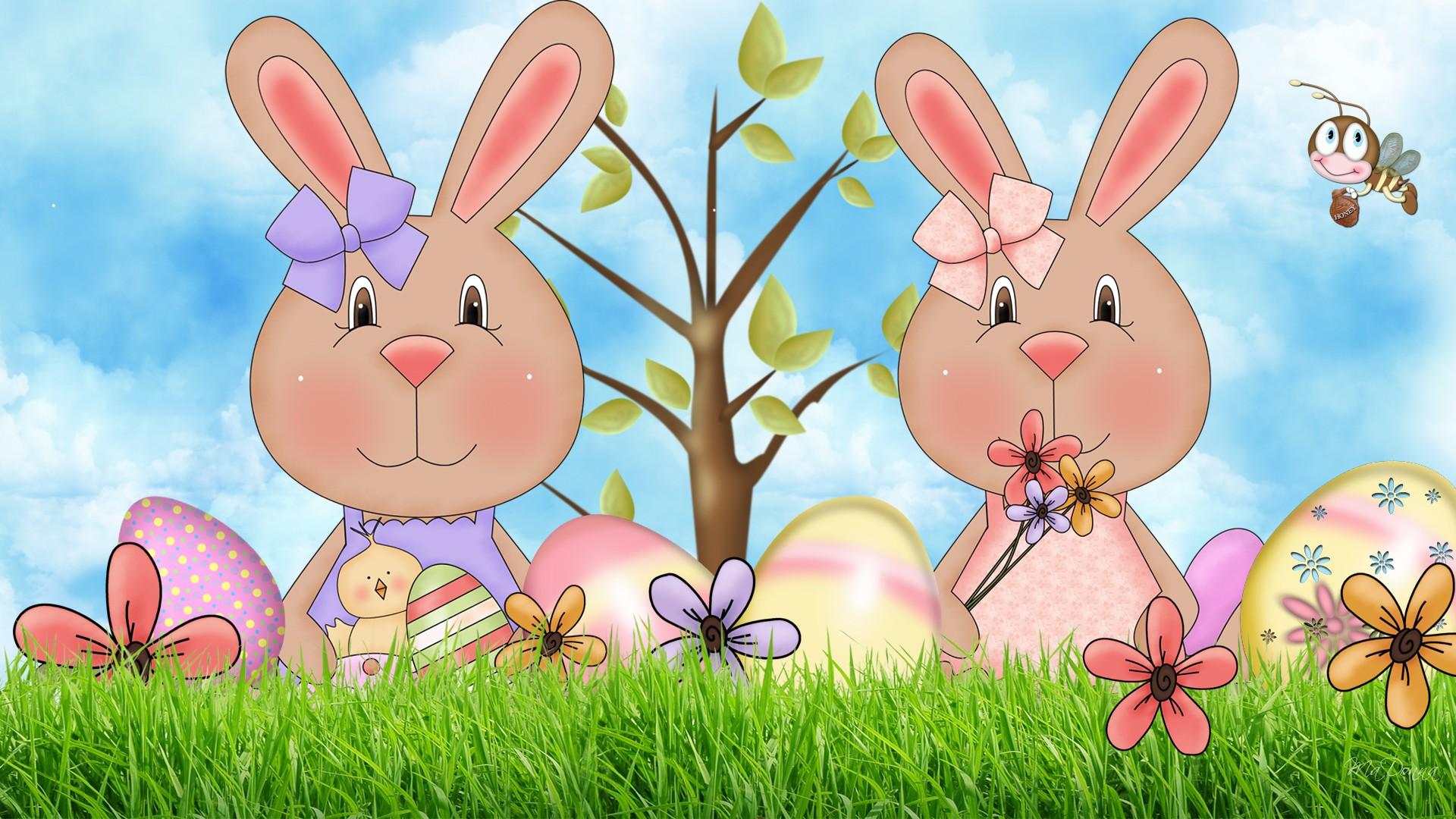 cute spring bunnies 162956