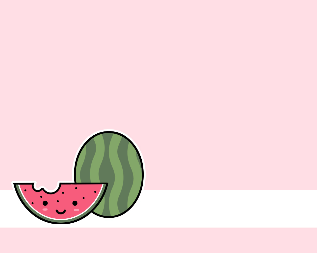 Wallpaper Cute Watermelon 1280x1024px