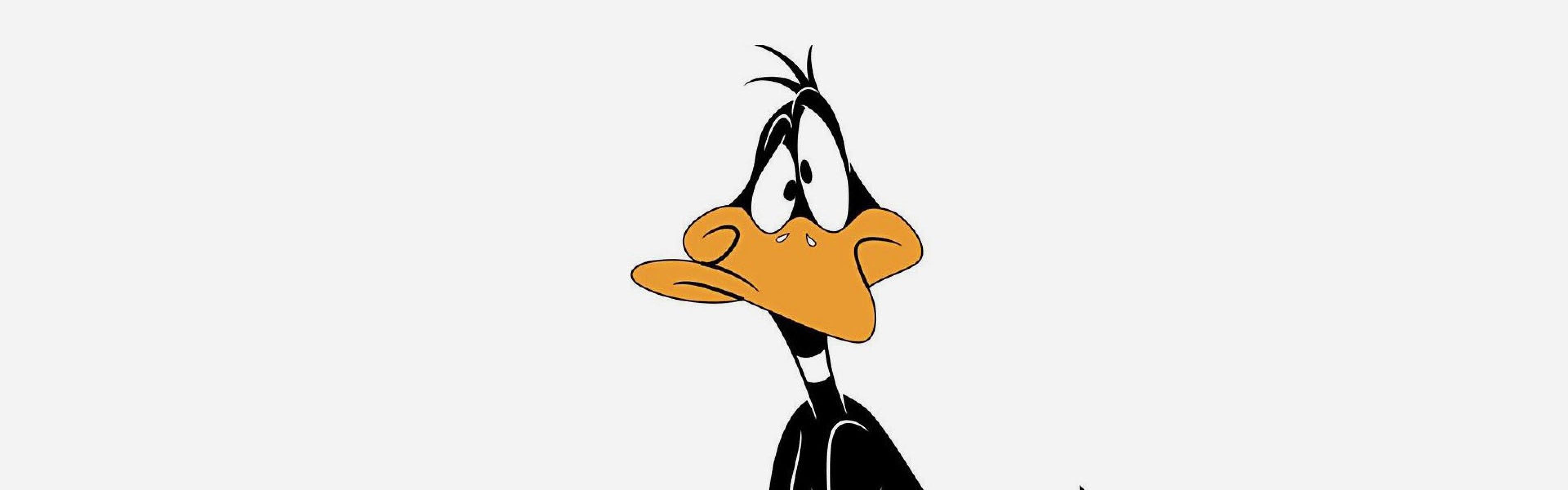 3840x1200 Wallpaper looney tunes, daffy duck, cartoon