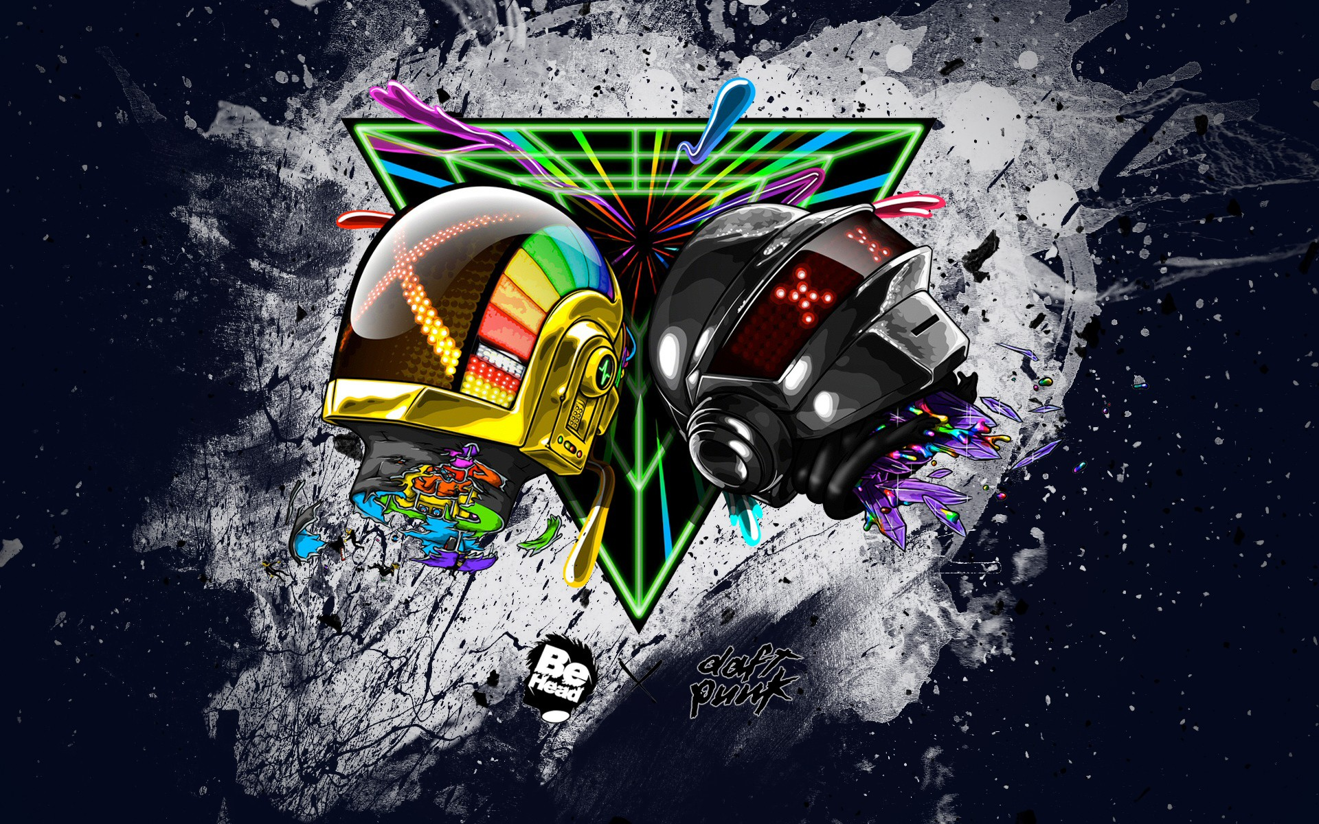 Daft Punk Abstract Wallpaper