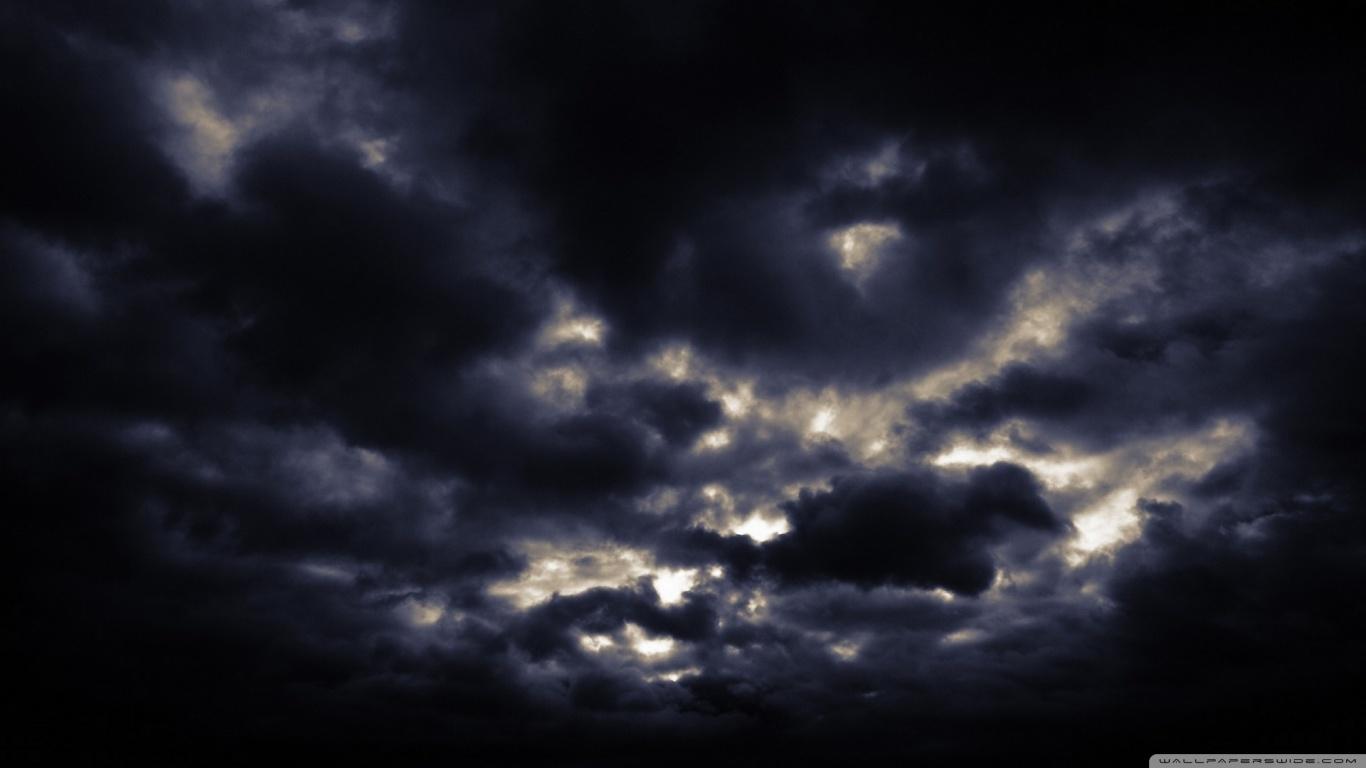 Dark Clouds Background Wallpaper 1366x768 29878