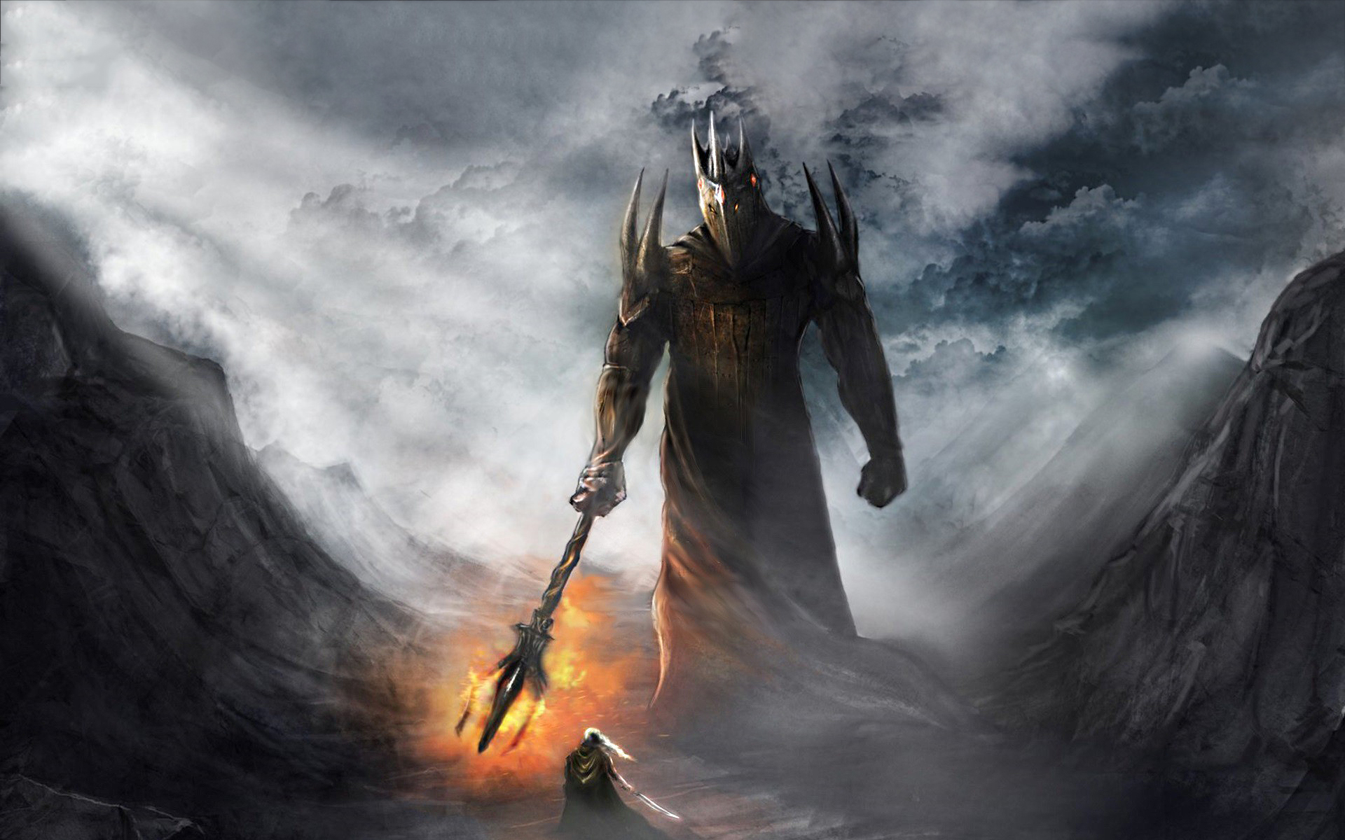 Dark lord morgoth vs fingolfin