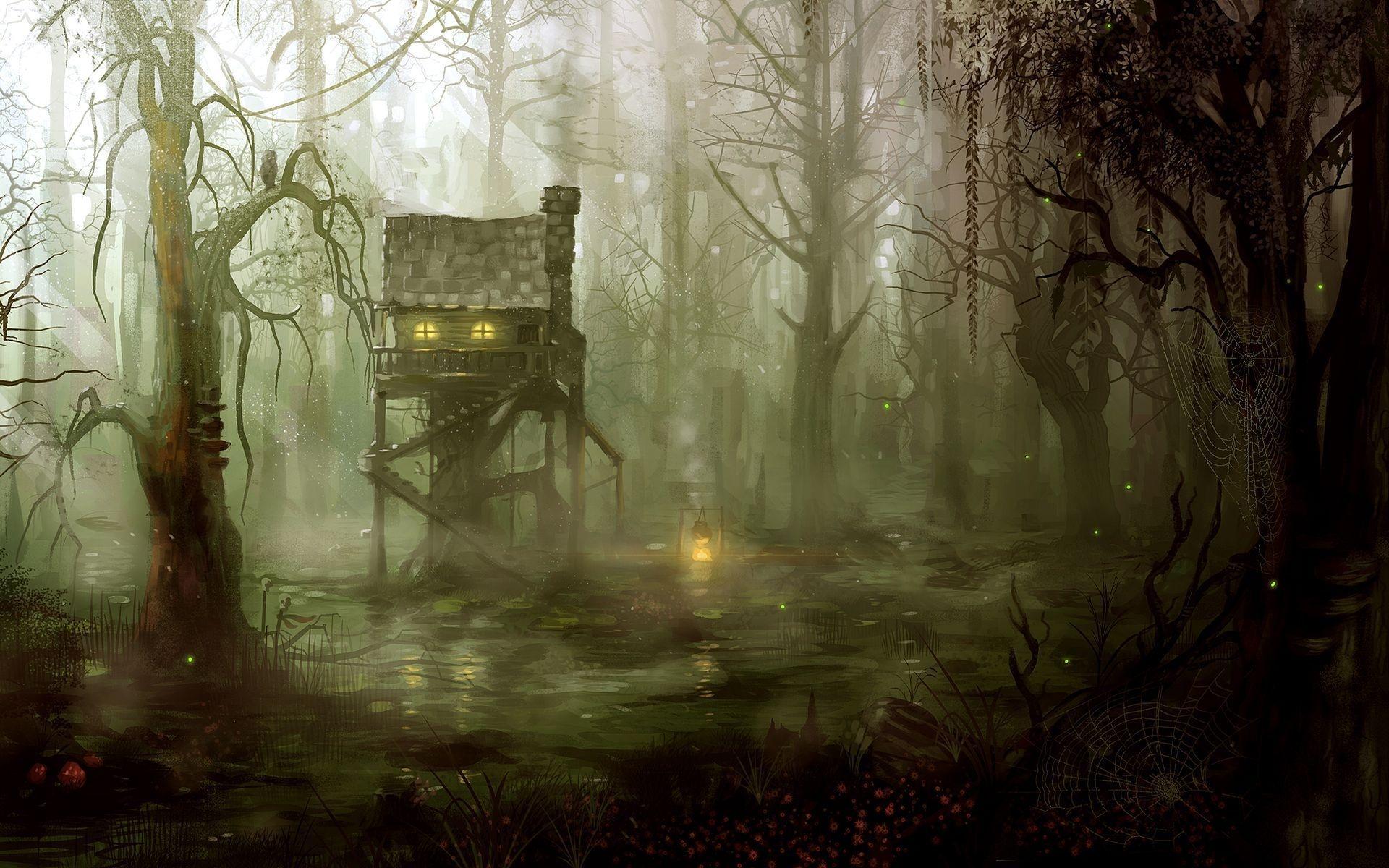 Dark Swamp Wallpaper