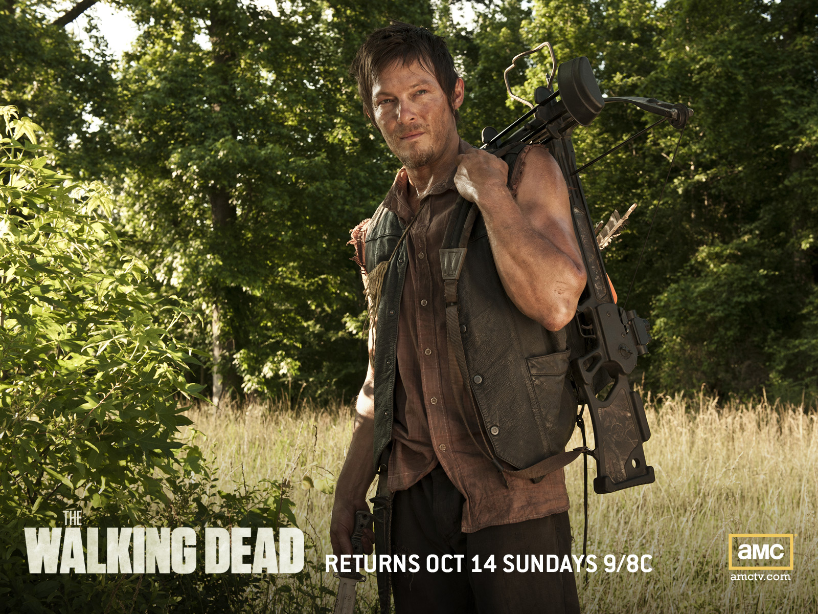 Daryl The Walking Dead Wallpaper 1600x1200 56738