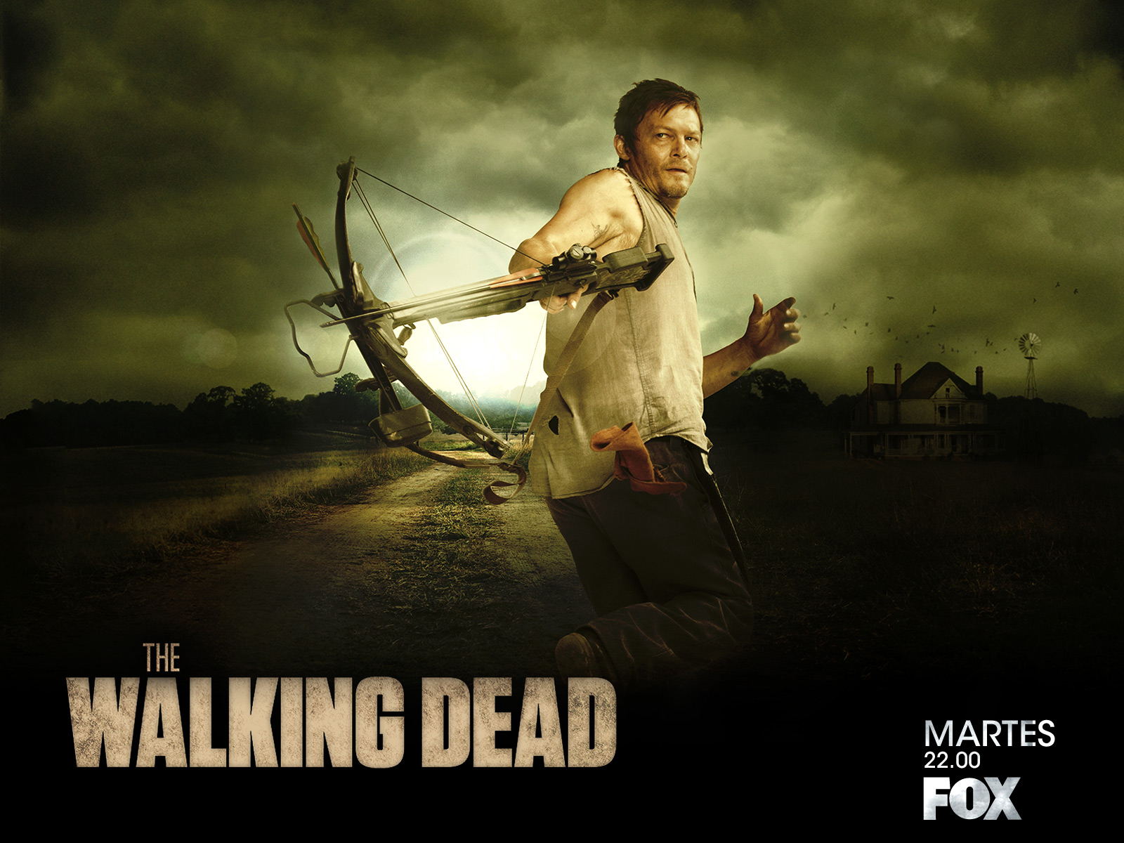 Daryl The Walking Dead Wallpaper 1600x1200 56732