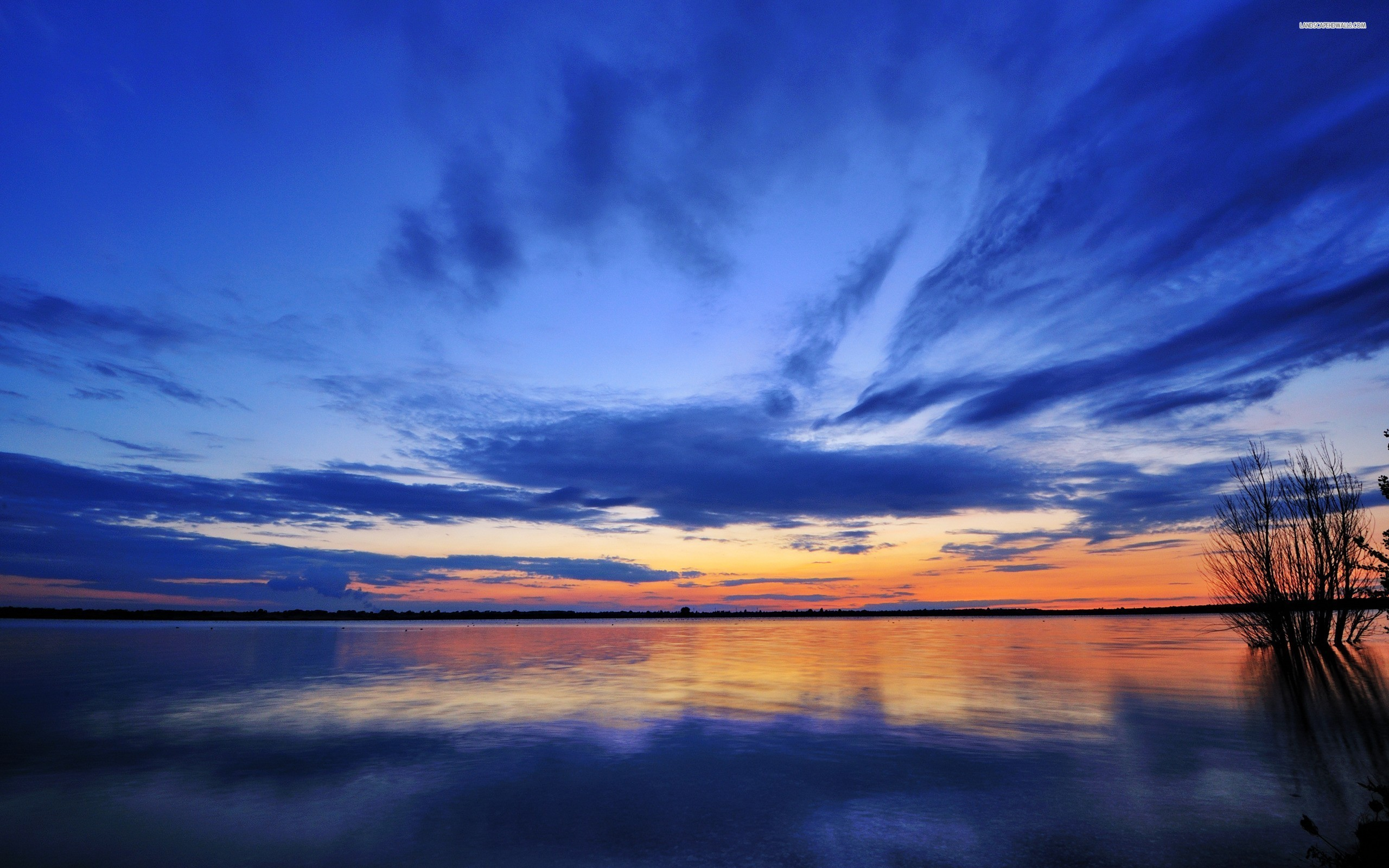 Lake at Dawn wallpaper 2560x1600 Original ...