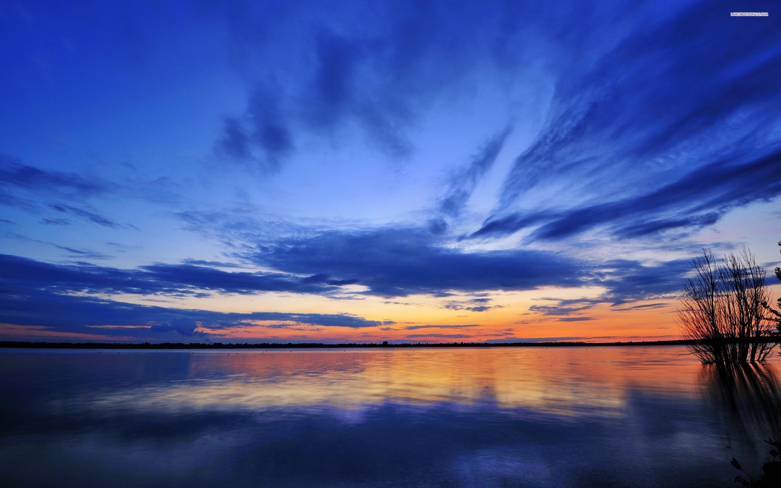 Lake at Dawn wallpaper 2560x1600 Original ...