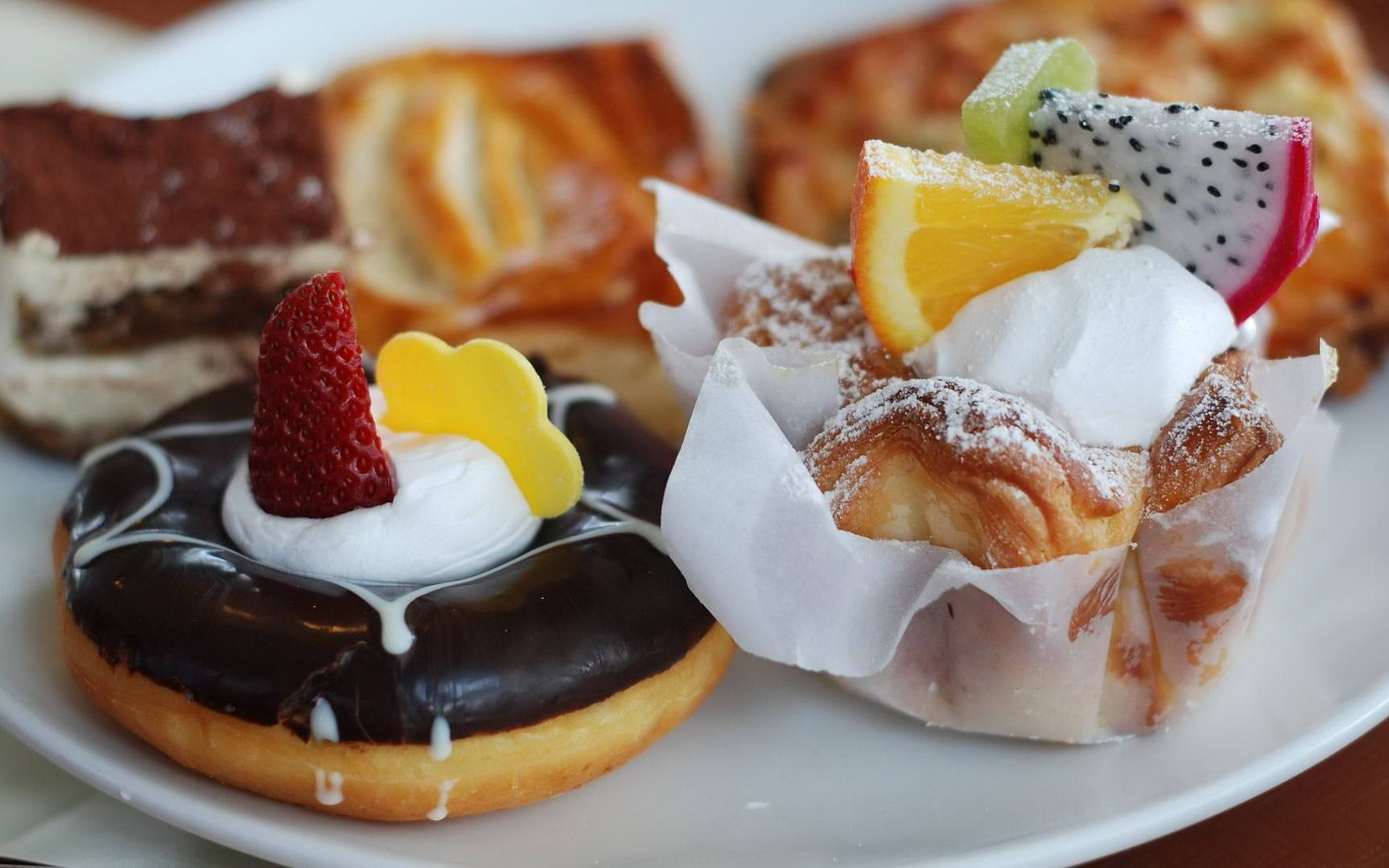 Delicious Pastries Wallpaper