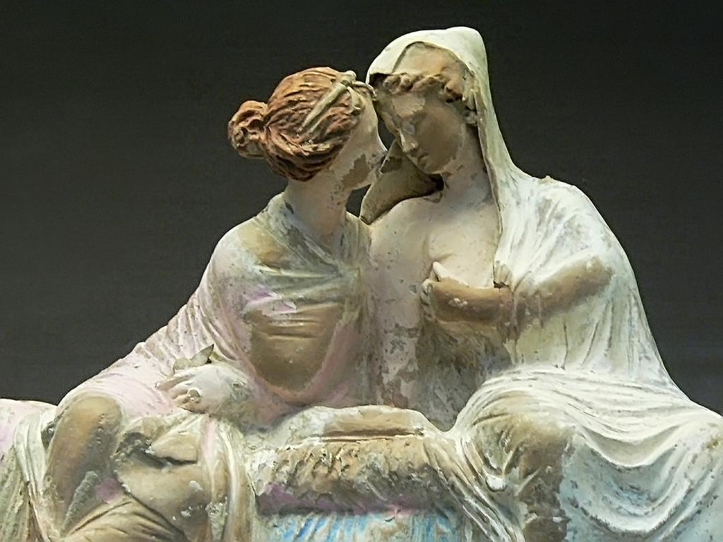 ... Demeter and Persephone Terracotta Myrina 100 BCE | by mharrsch
