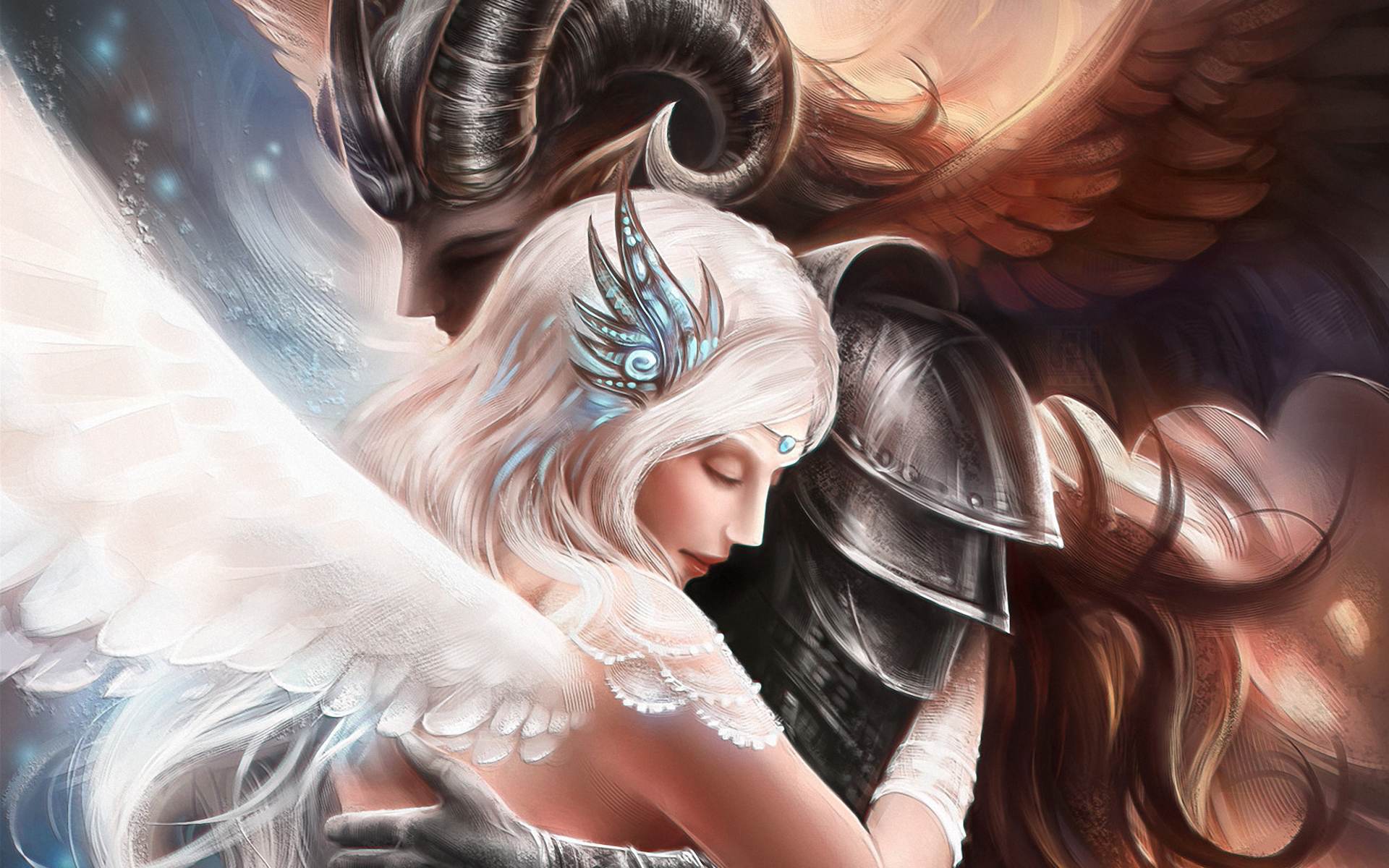 Demon angel love
