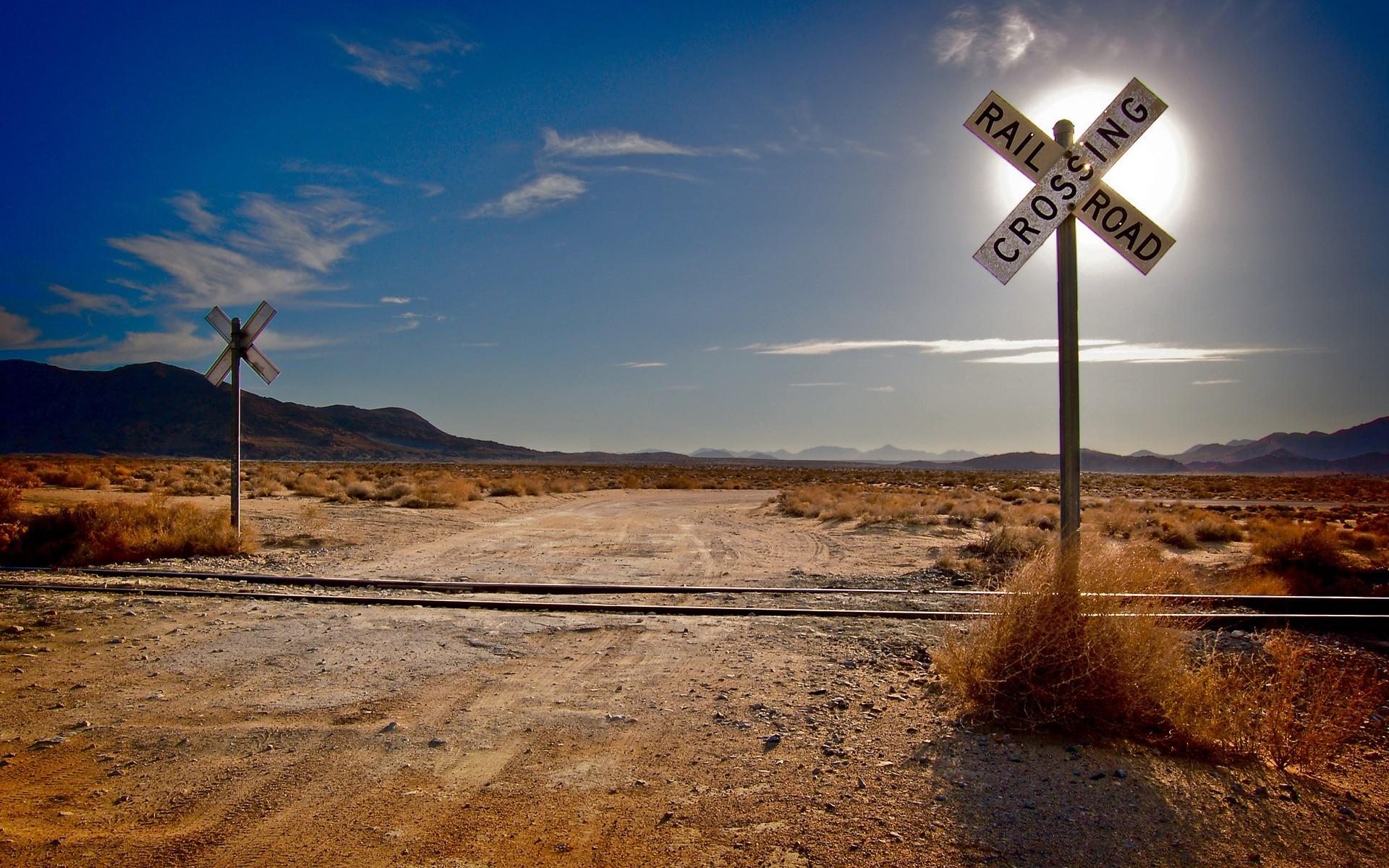 Desert Railroad Wallpaper