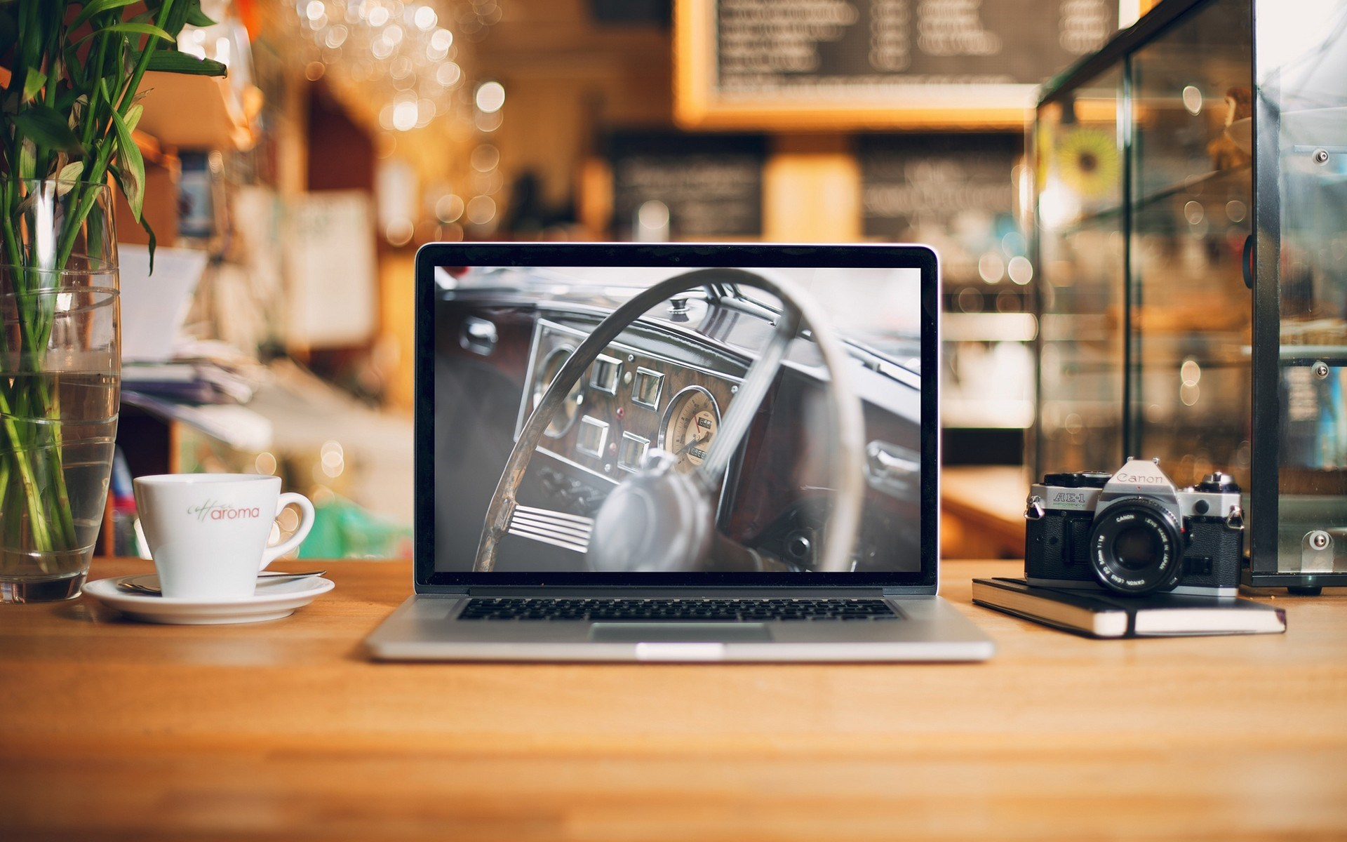 Desk MacBook Notebook Camera Canon Photo